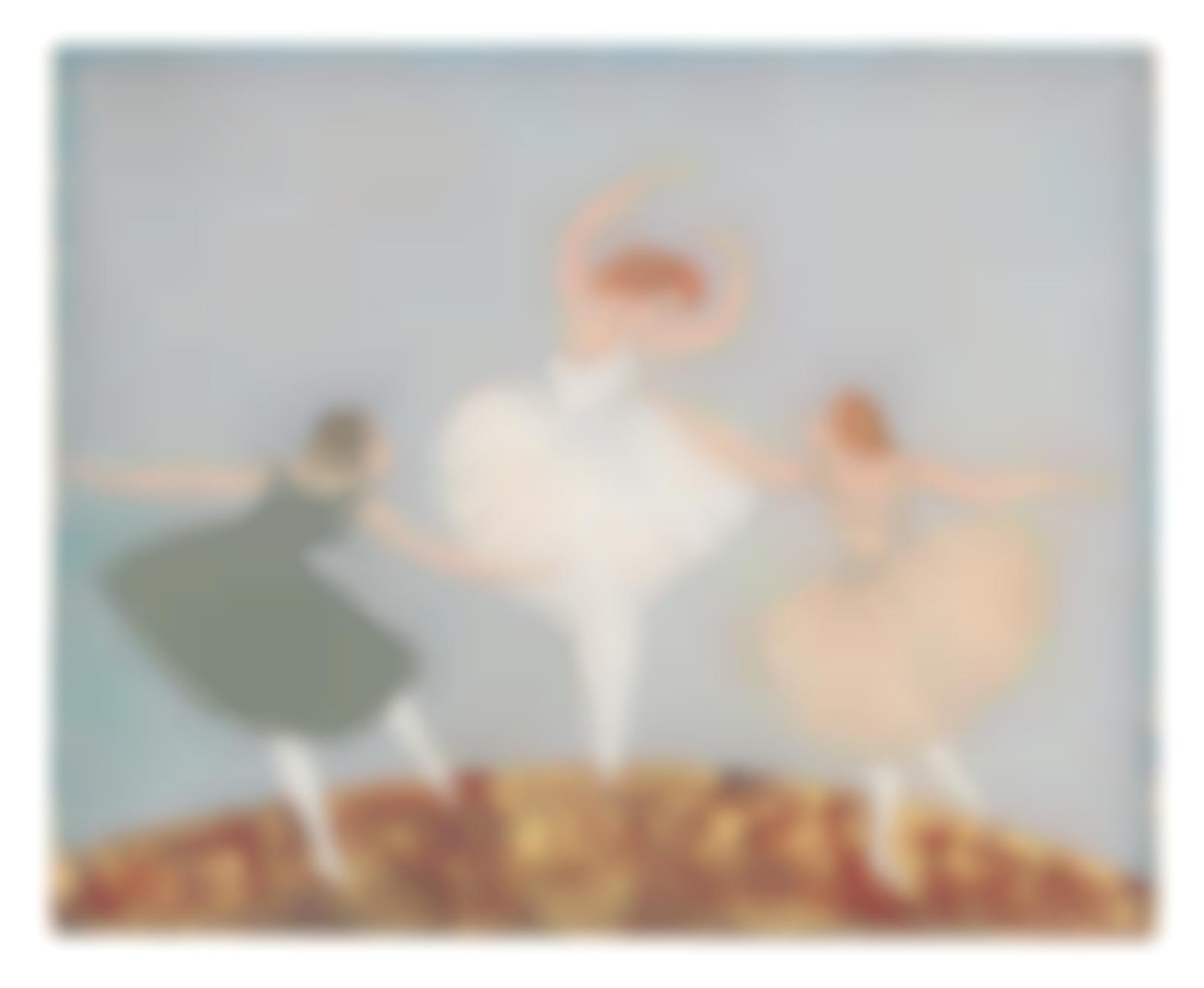 Tsuguharu Foujita-Les Trois Danseuses-1918