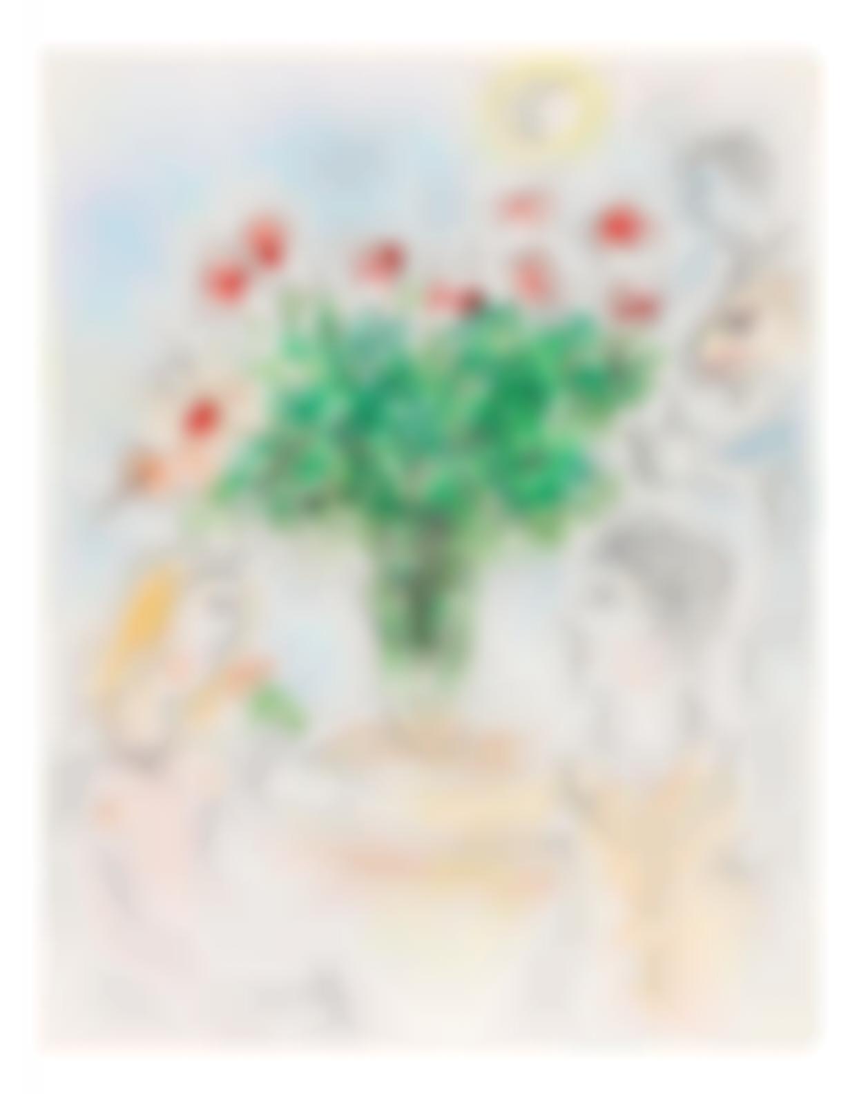 Marc Chagall-Couple Au Bouquet-1975