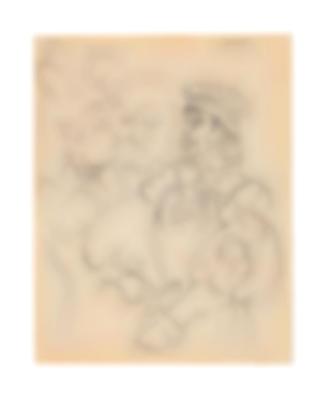 Pablo Picasso-Trois Personnages-1954