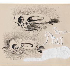 Salvador Dali-Etude Pour Le Carton Dinvitation A Lexposition Chez Jacques Bonjean-1934