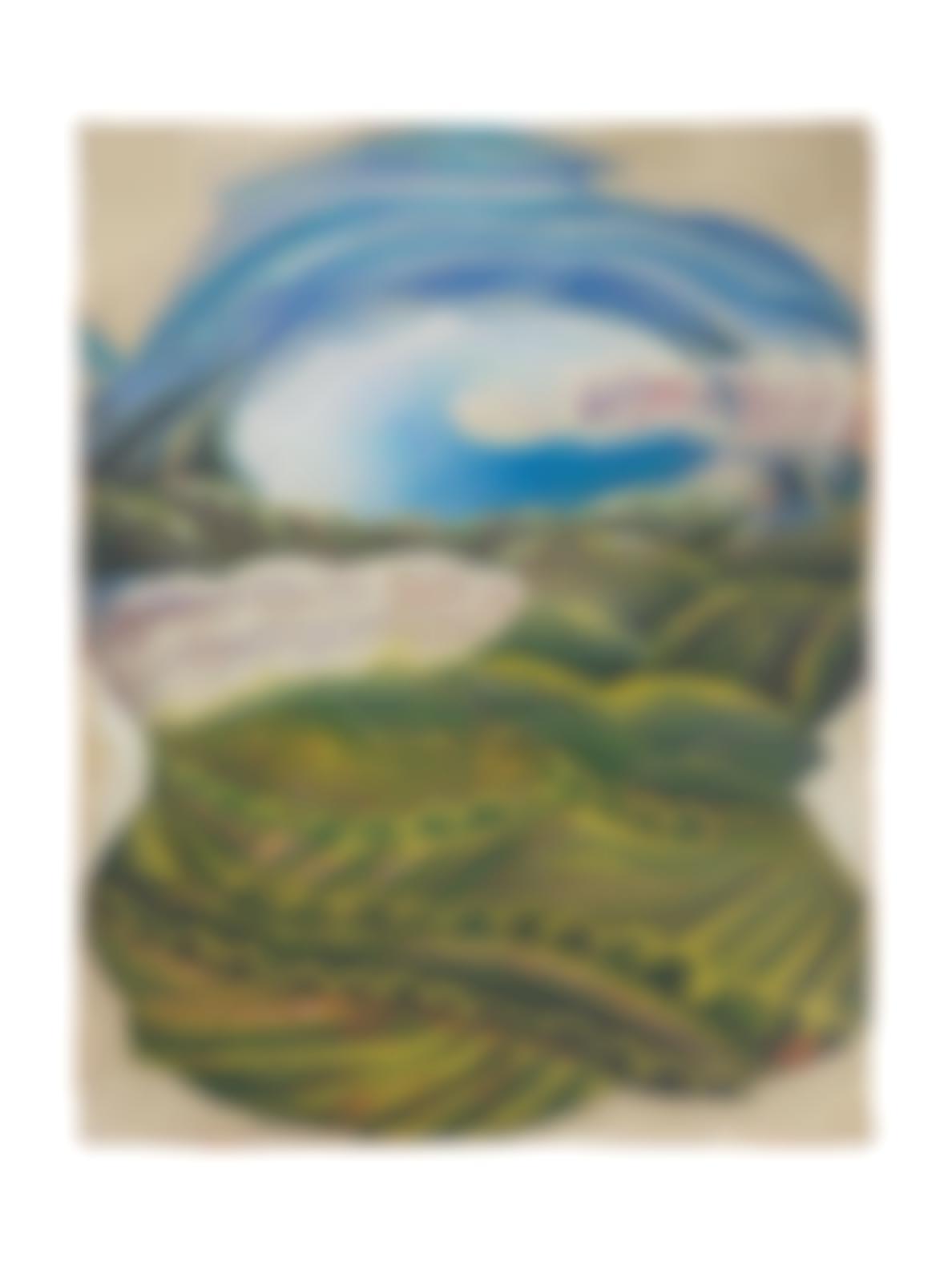 Gerardo Dottori-Paesaggio Con Lago-1936