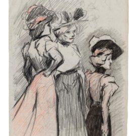 Pablo Picasso-Trois Femmes Au Chapeau (Recto); Femme Au Chapeau (Verso)-1899