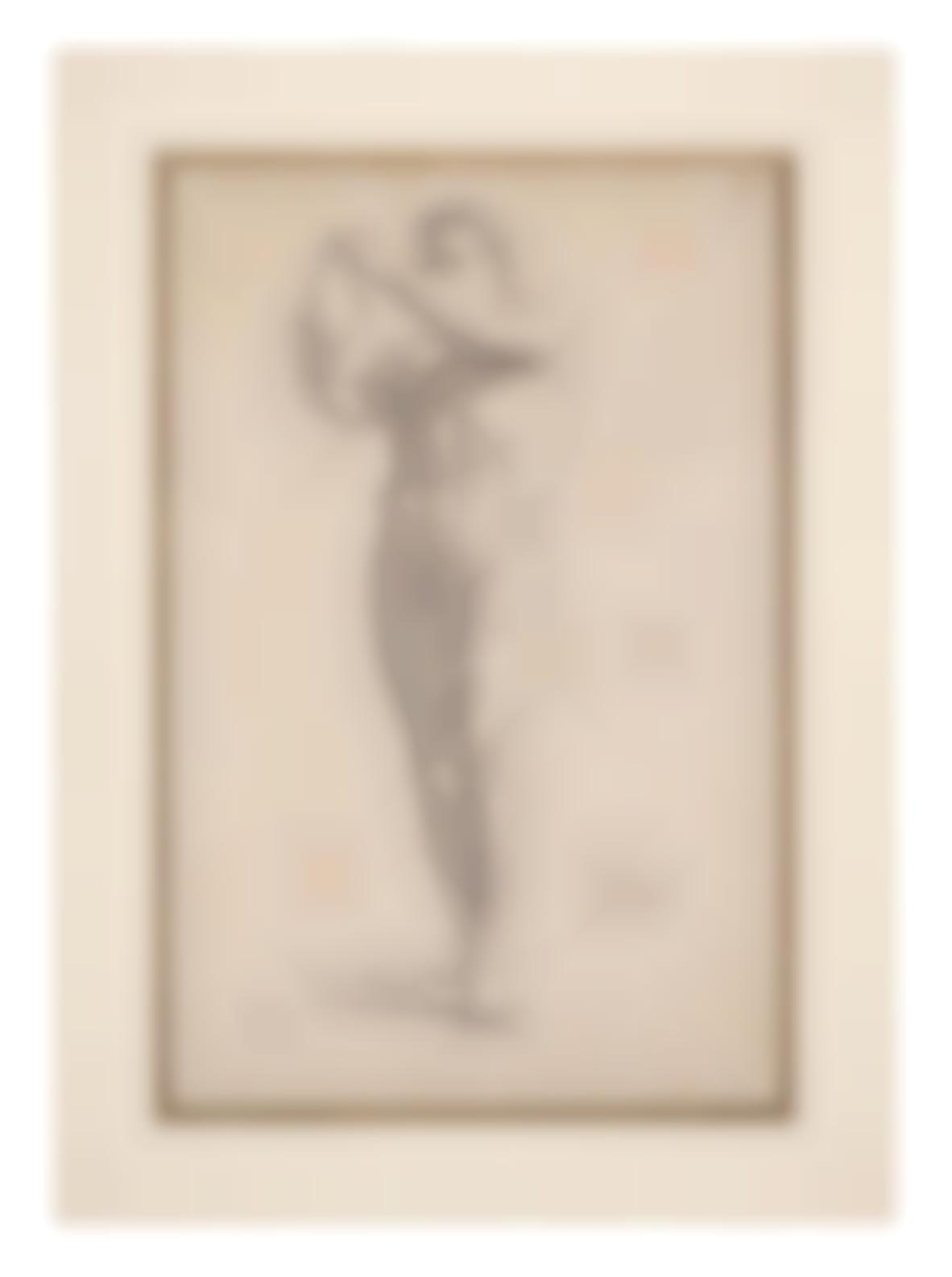 Edgar Degas-Le Discobole (Recto); Etude Pour Le Discobole (Verso)-1858