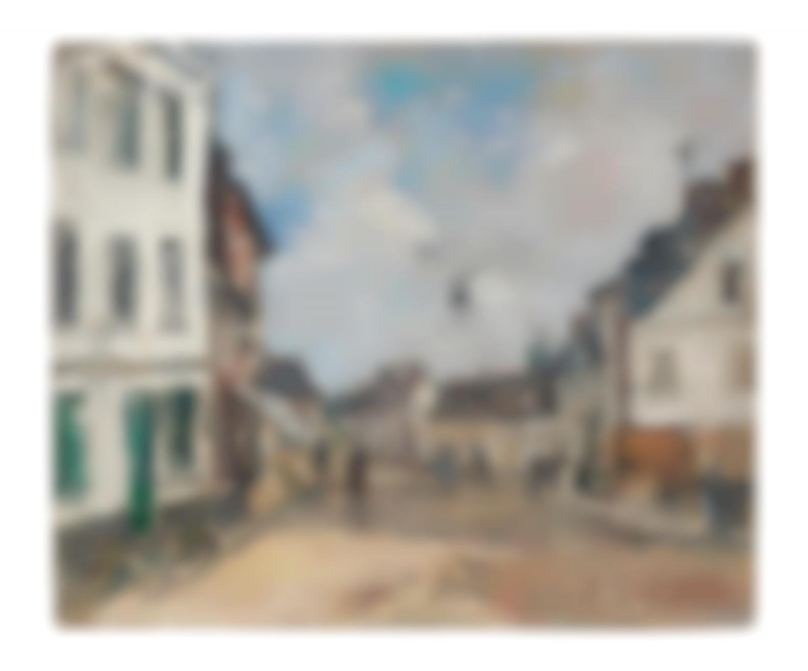 Eugene Louis Boudin-Fervaques, La Rue Principale-1881