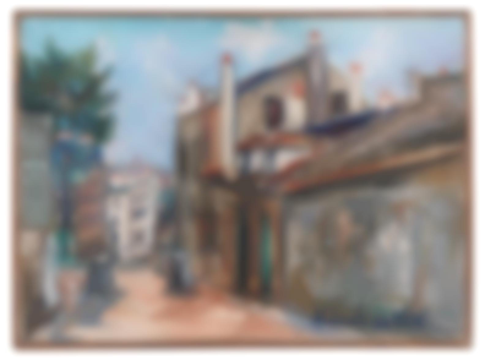Maurice Utrillo-La Maison De Mimi Pinson A Montmartre-1948