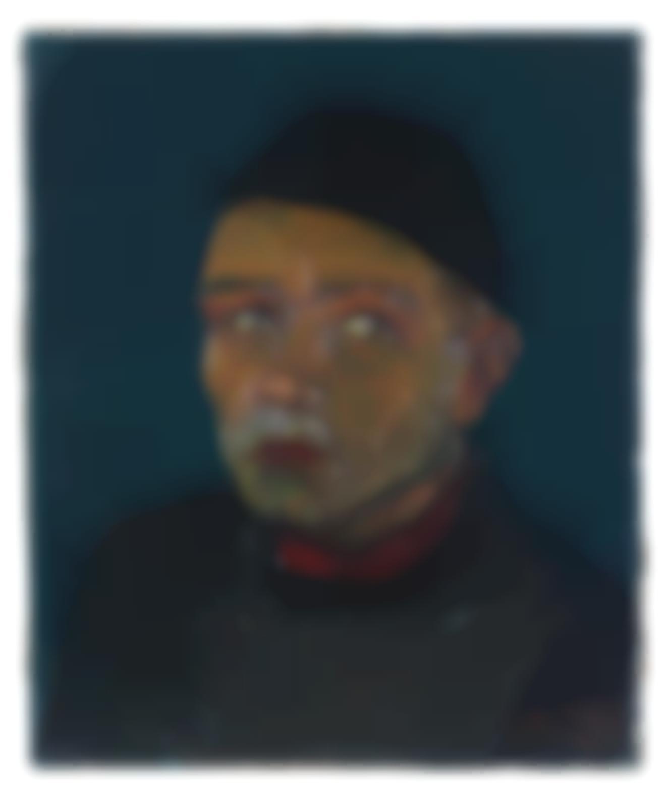 Josef Scharl-Mann Mit Rotem Kragen-1933