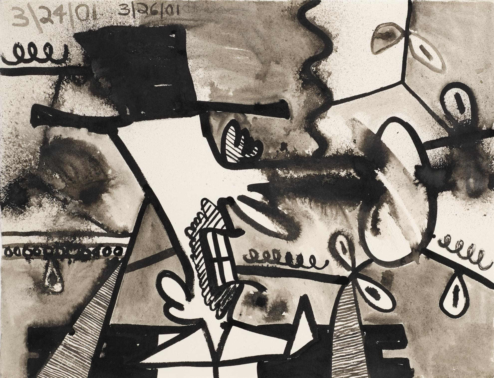 Carroll Dunham-Untitled (3.24.01, 3.26.01)-2001