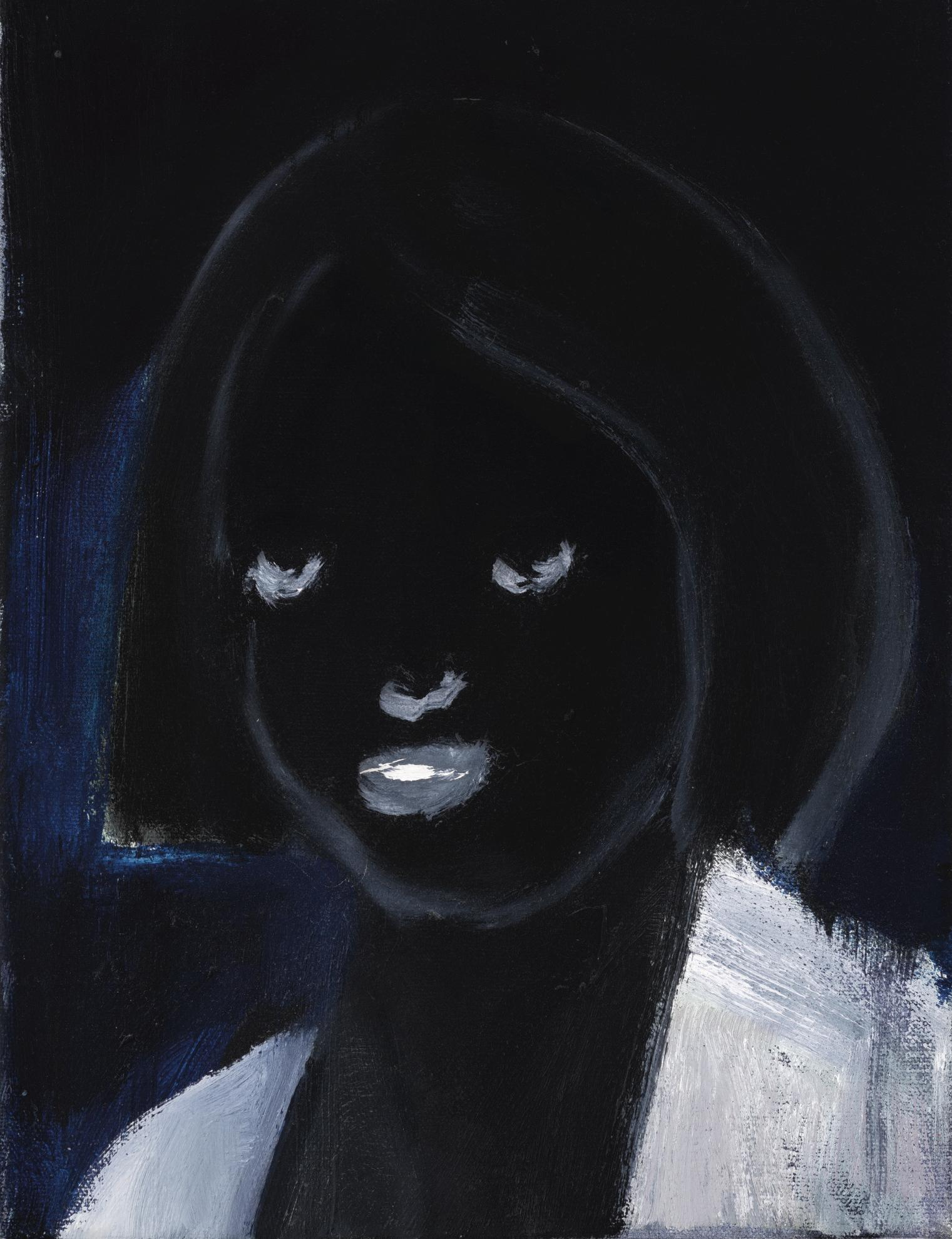 Marlene Dumas-Small Dark Portrait (With White Teeth)-1999