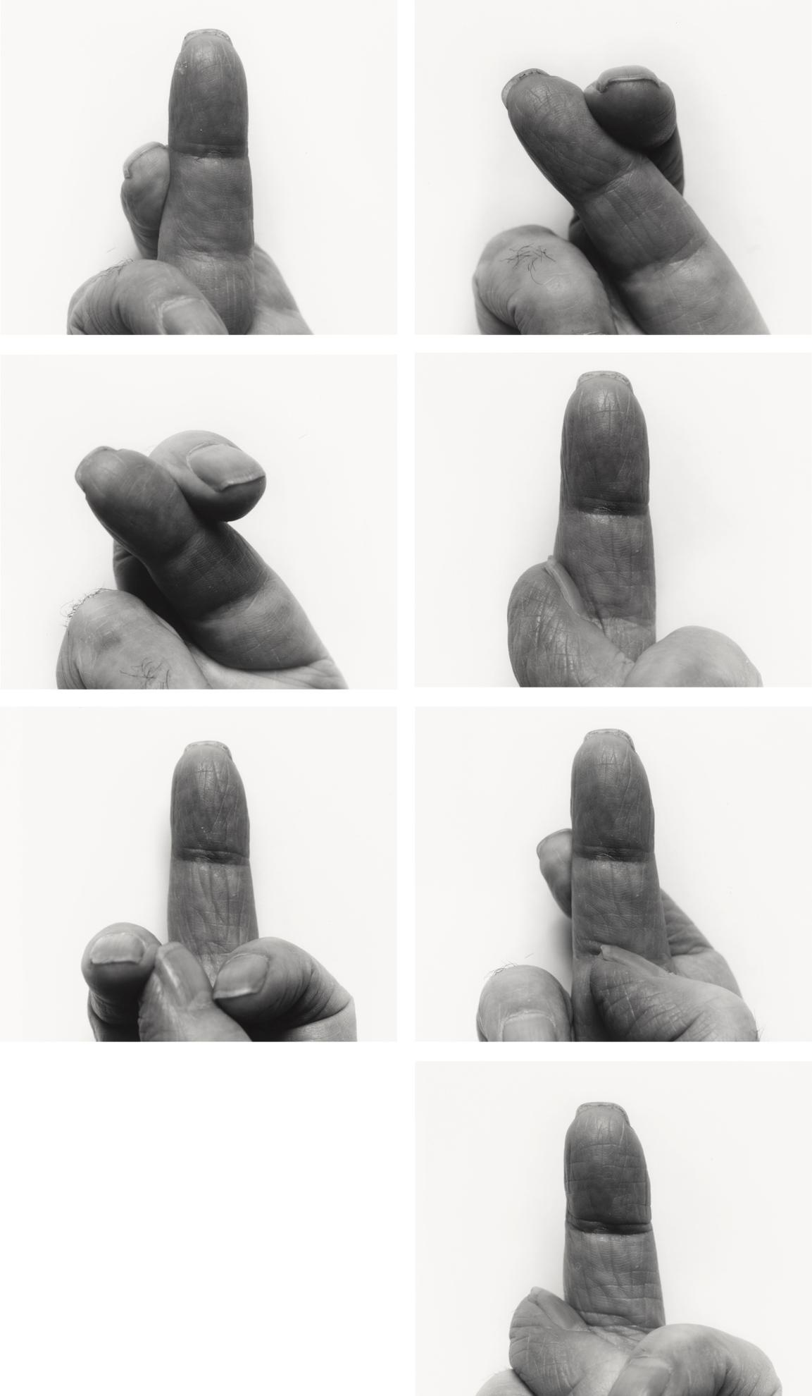 John Coplans-Self Portrait: Crossed Fingers (Nos. 1-7)-1999