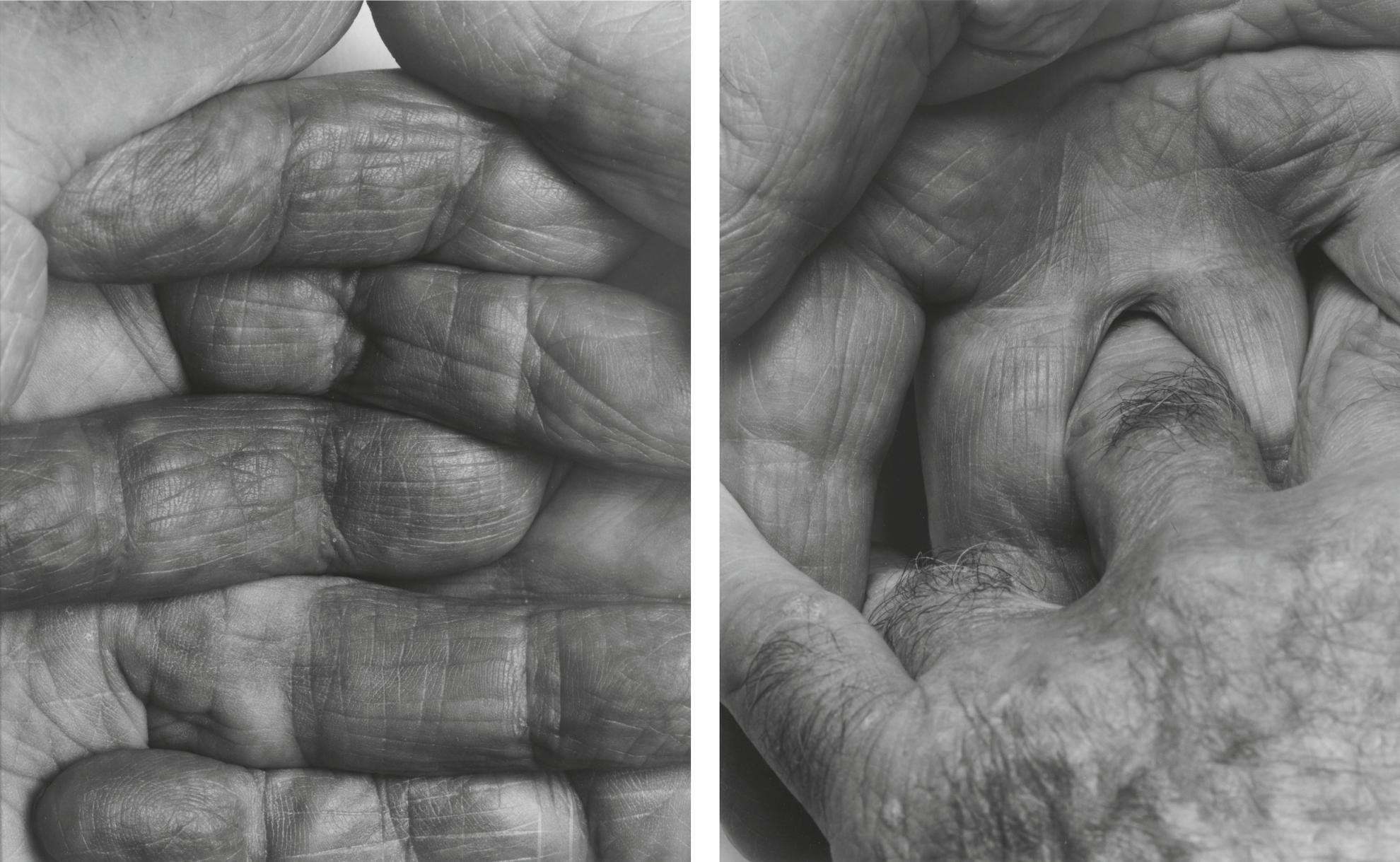 John Coplans-Self Portrait: Interlocking Fingers No. 1 And No. 2-1999