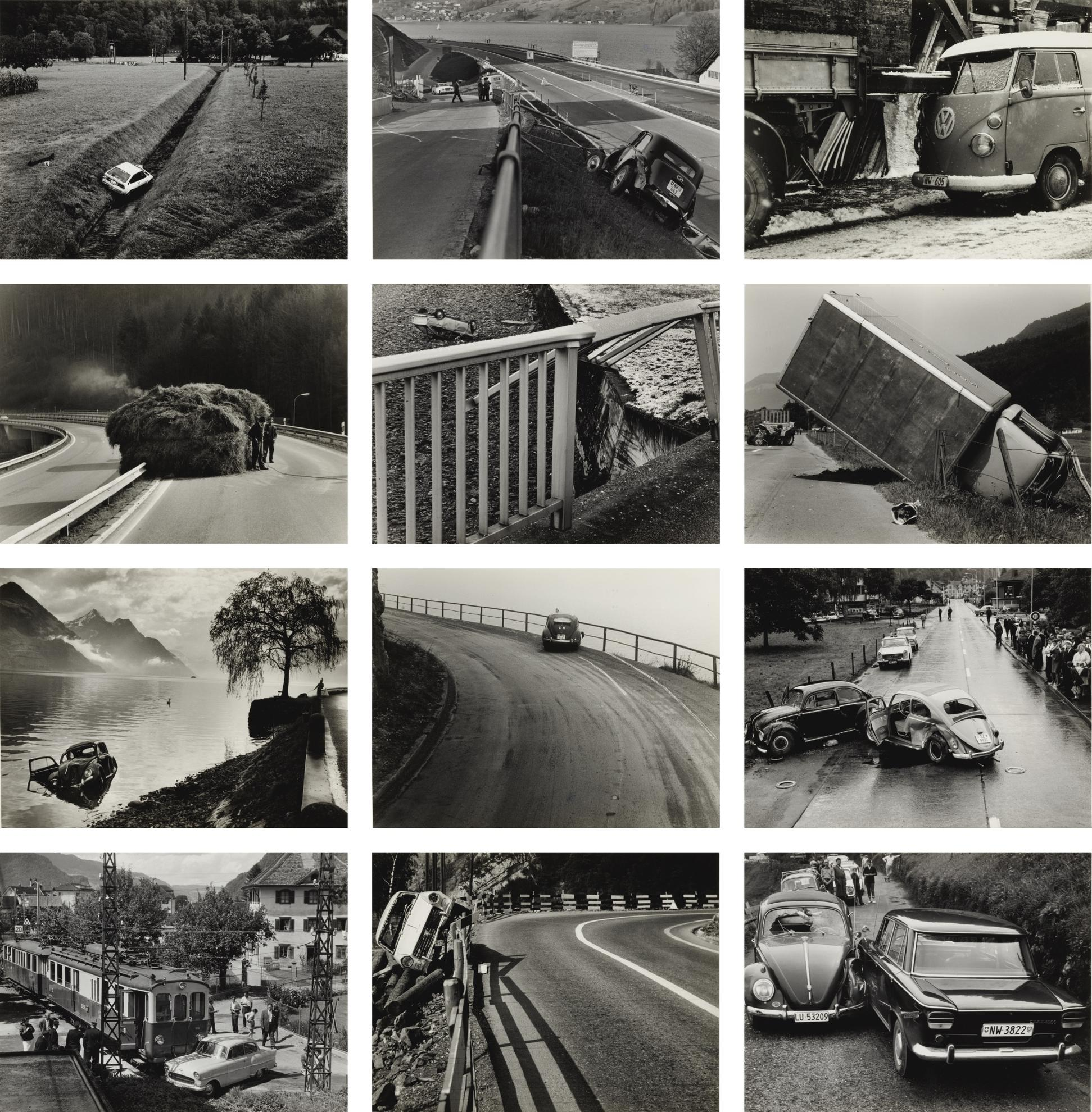 Arnold Odermatt-Selected Images Of Car Accidents-1960