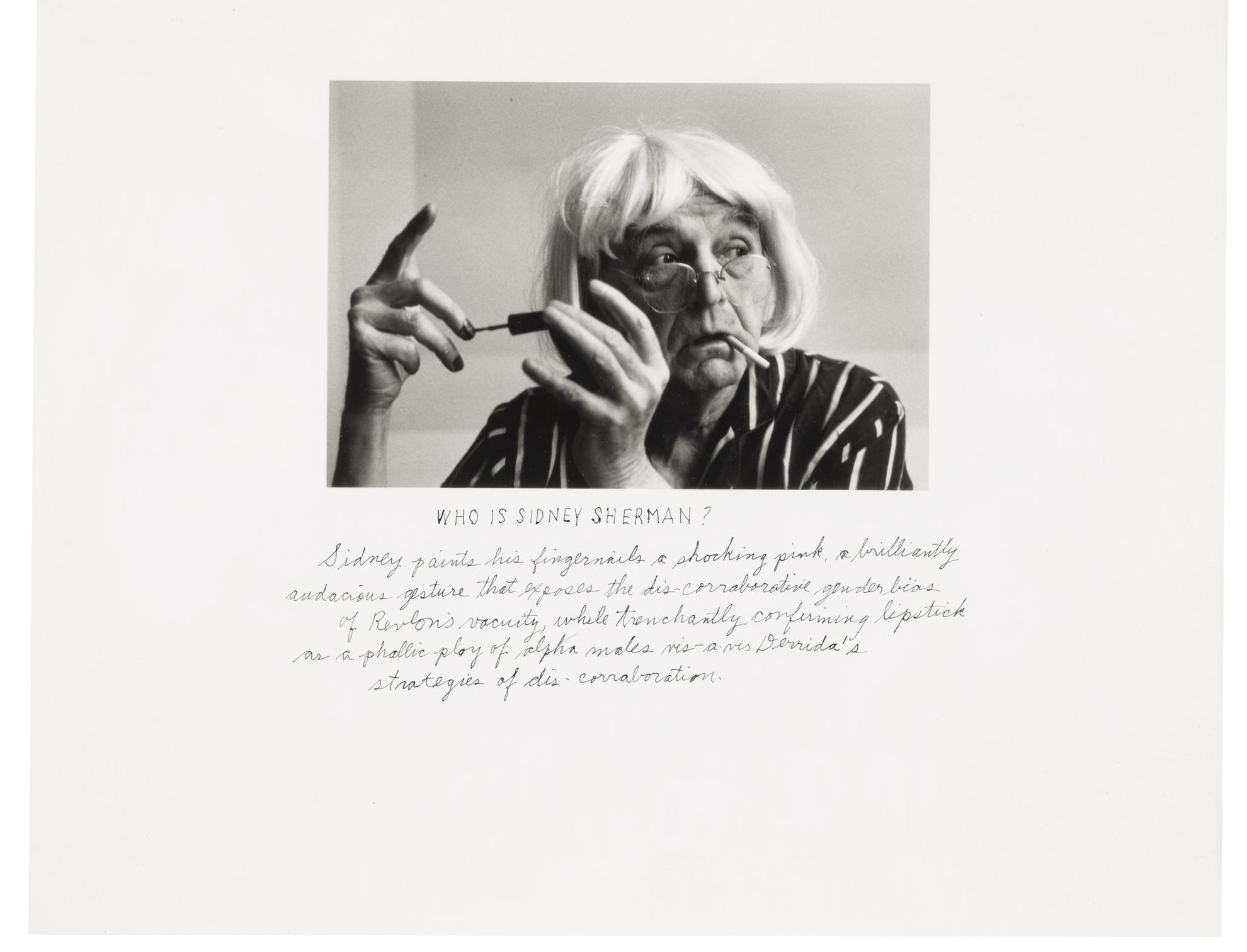 Duane Michals-Who Is Sidney Sherman?-2000