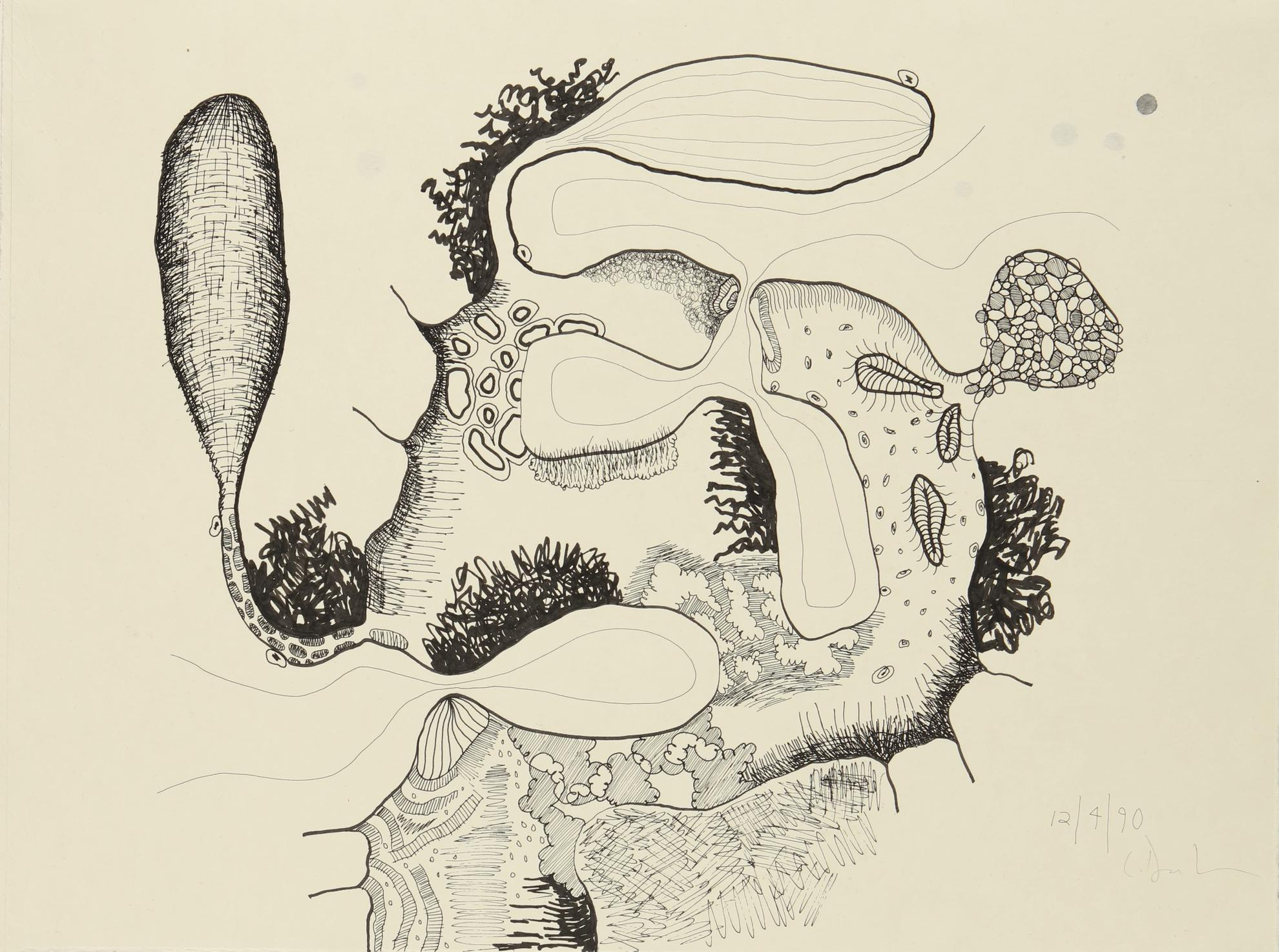 Carroll Dunham-Untitled (12.4.90)-1990