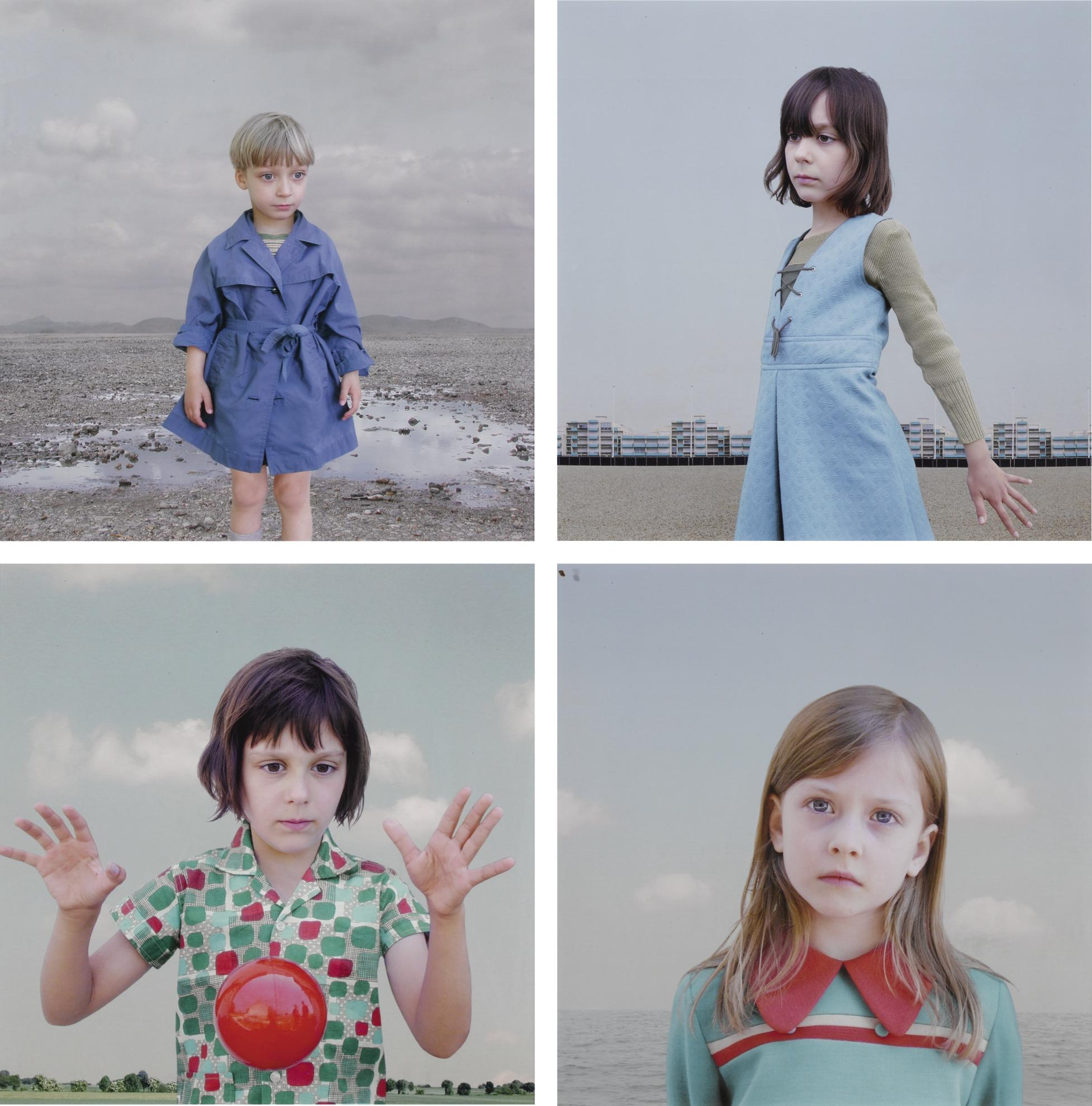 Loretta Lux-Boy In A Blue Raincoat 1; The Blue Dress; The Red Ball 1; And Lois 2 [Four Works]-2001