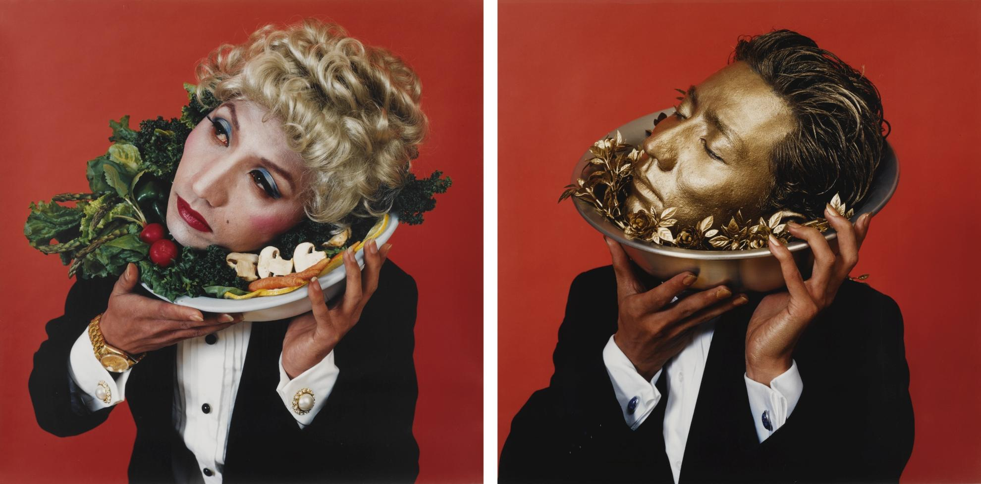 Yasumasa Morimura-Doublannage (Portraits A And D) [Two Works]-1988