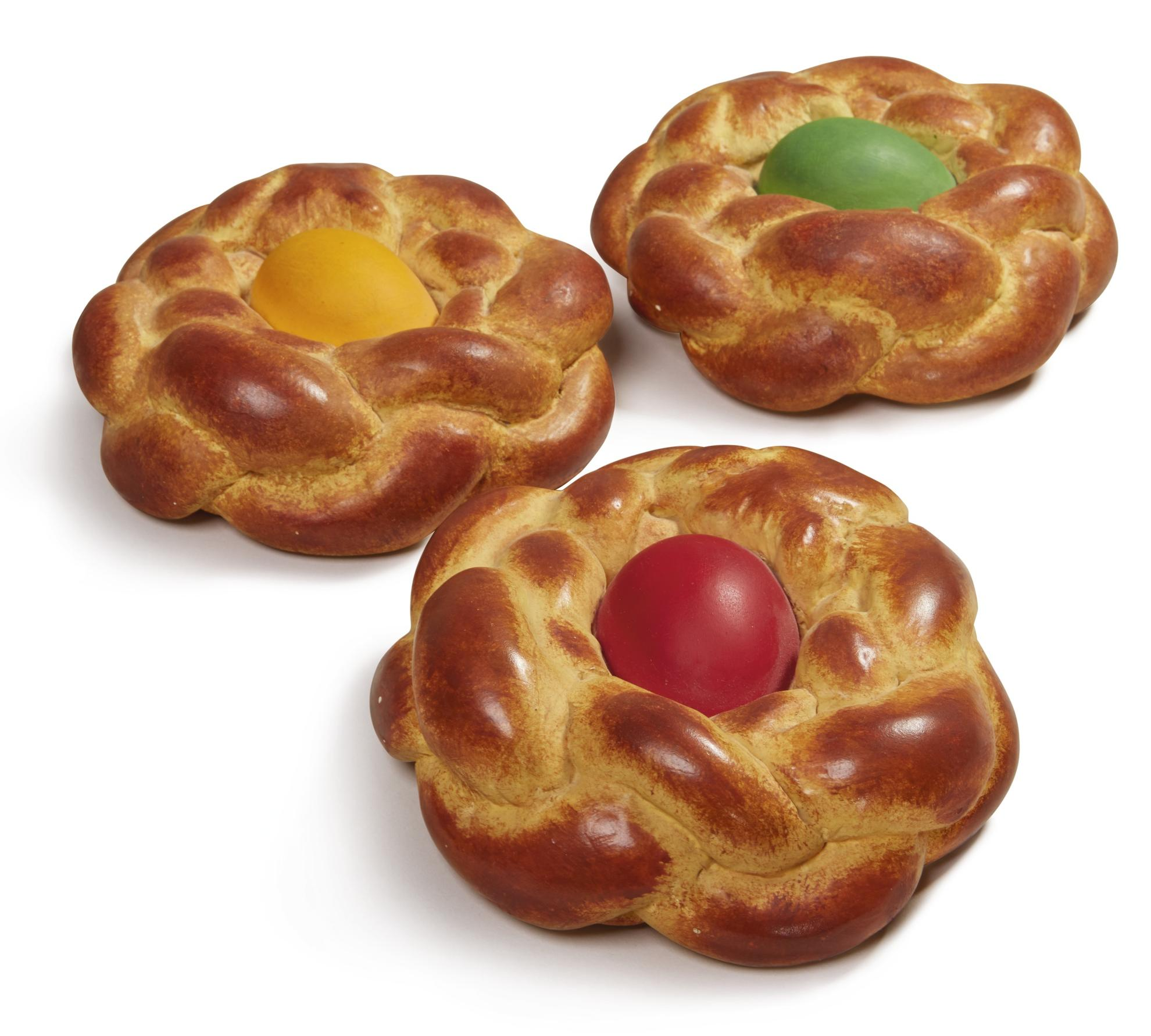 Jeff Koons-Bread With Egg (Yellow; Green; And Red) [Three Works]-1995