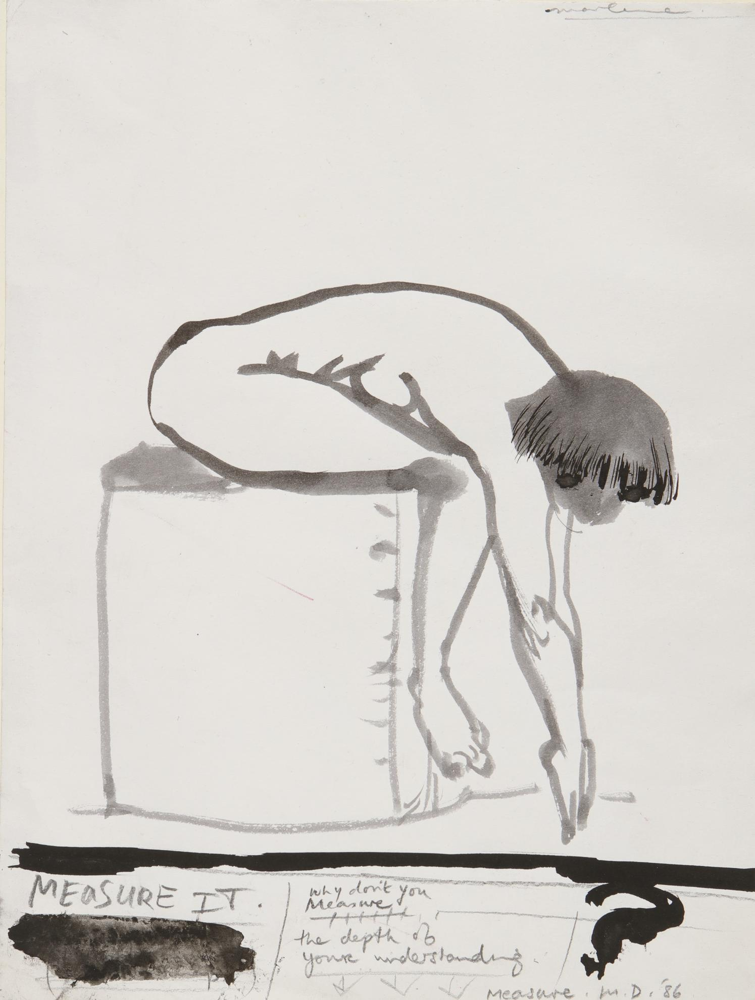 Marlene Dumas-Measure It-1986