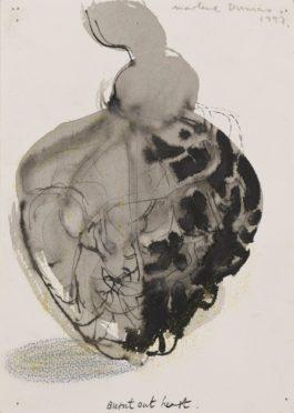 Marlene Dumas-Burnt Out Heart-1992