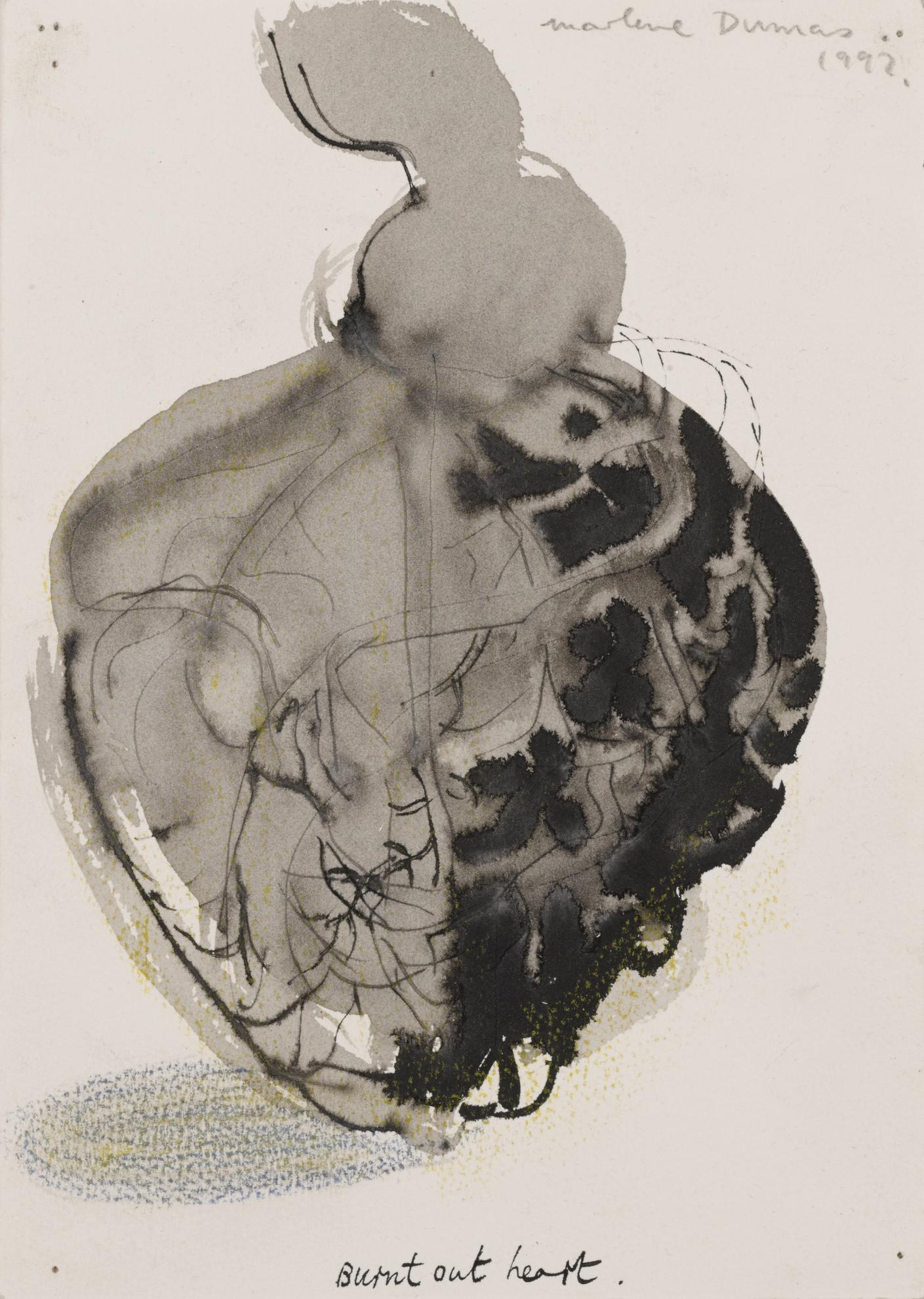 Marlene Dumas-Burnt Out Heart-1992