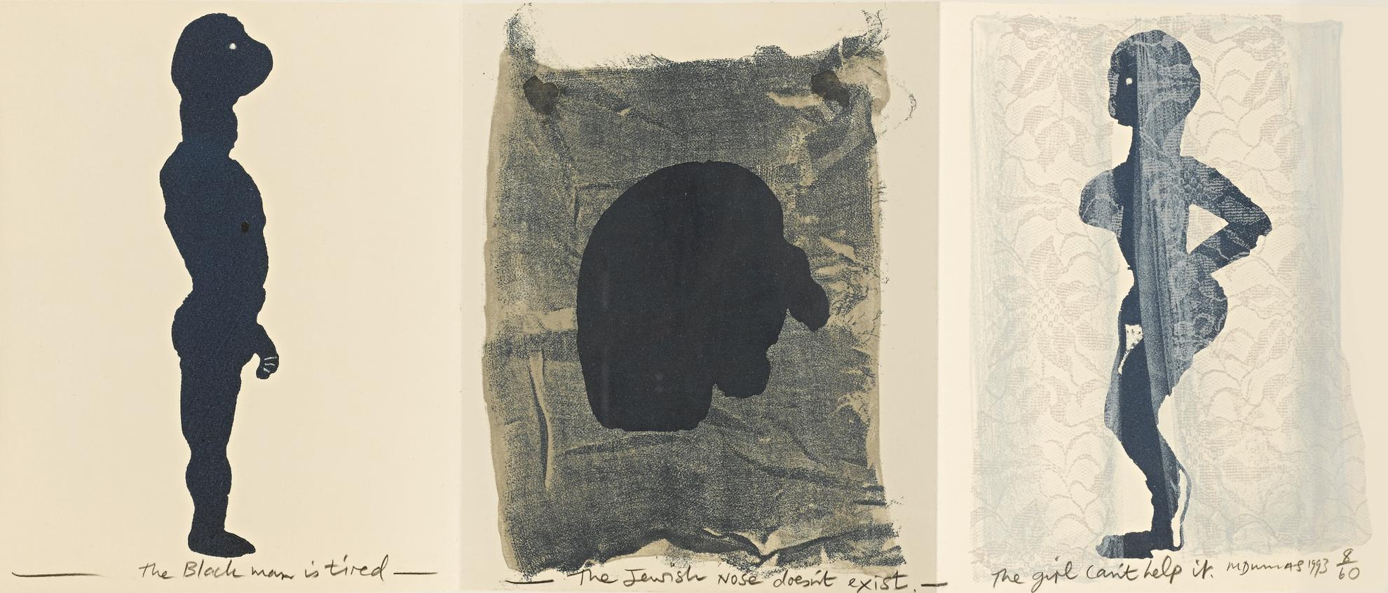 Marlene Dumas-The Black Man, The Jew And The Girl-1993