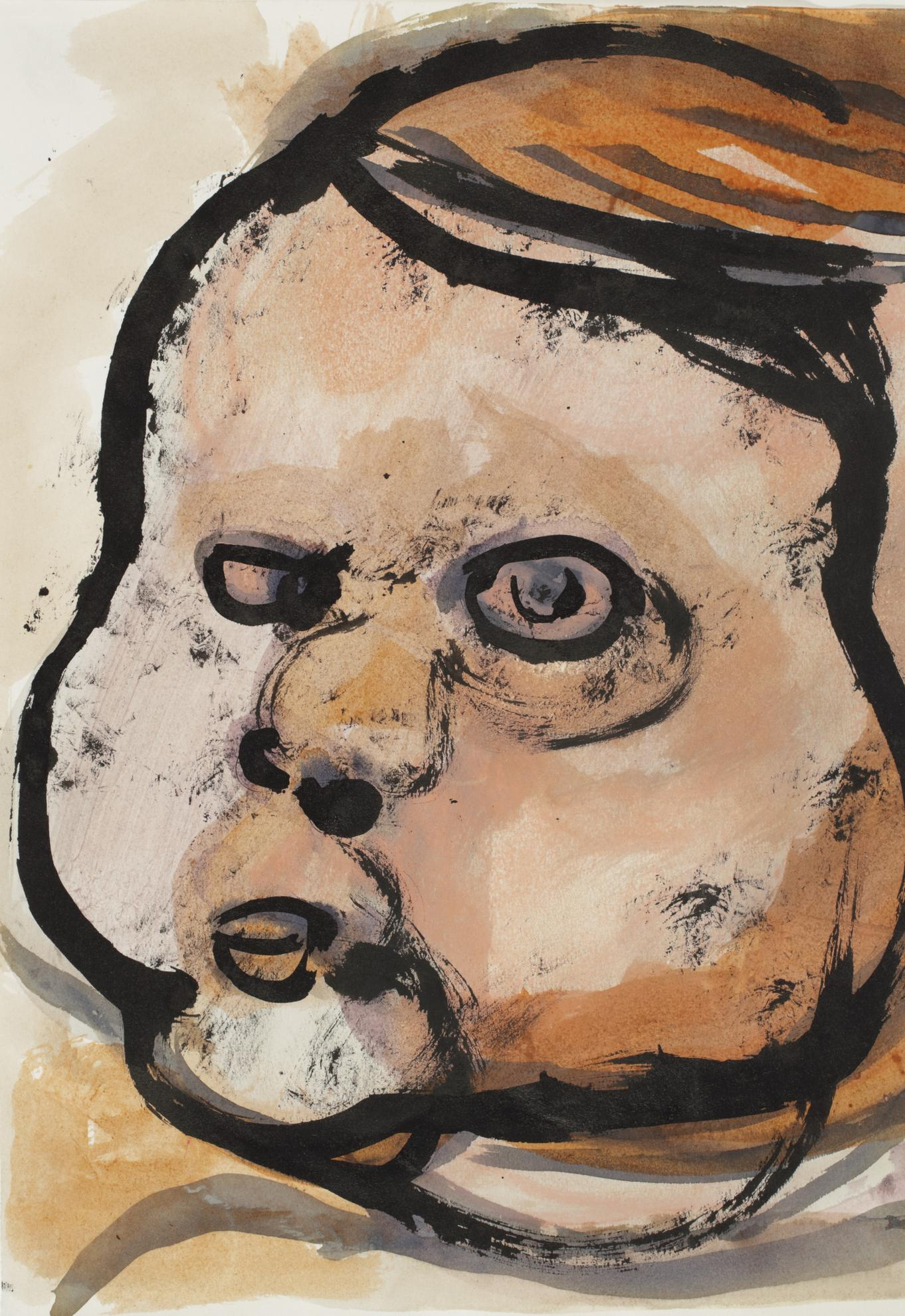 Marlene Dumas-Untitled (Childs Head)-1992