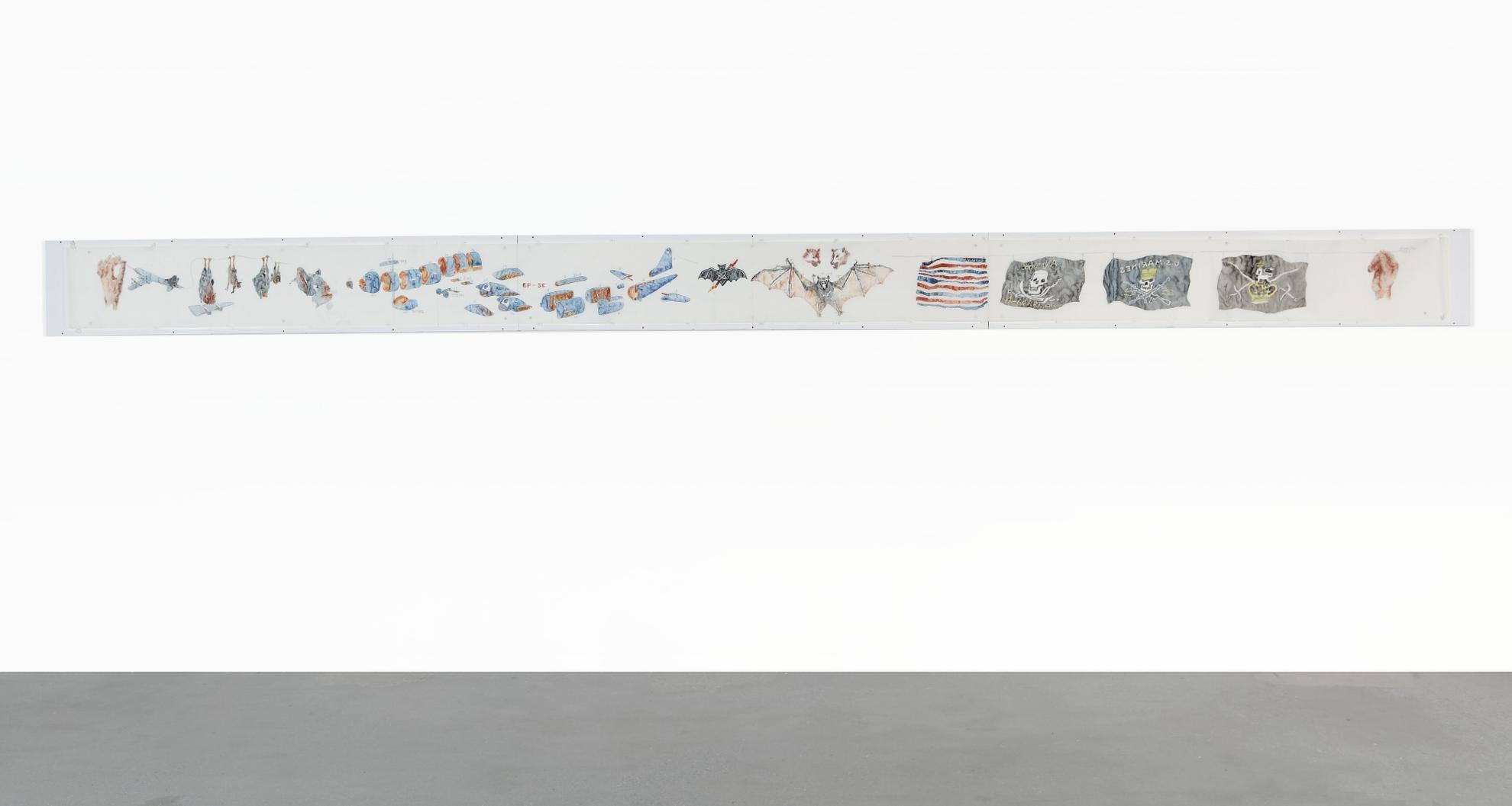 Huang Yong Ping-Long Drawing Of The Bat Project-2003