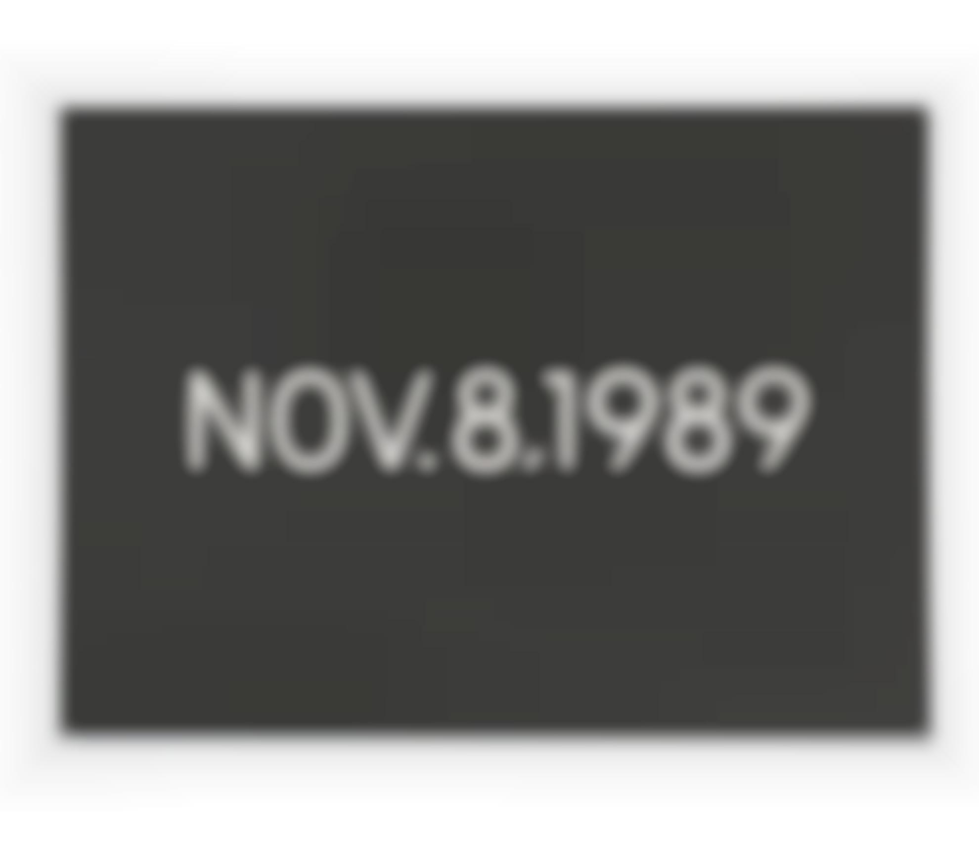 On Kawara-Nov. 8, 1989-