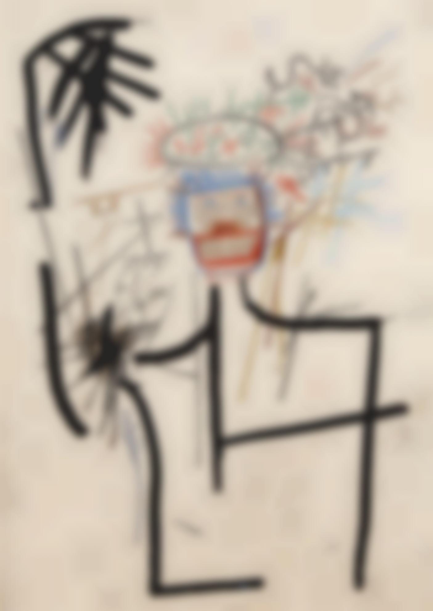 Jean-Michel Basquiat-Untitled (Figure Jmb #1)-1982
