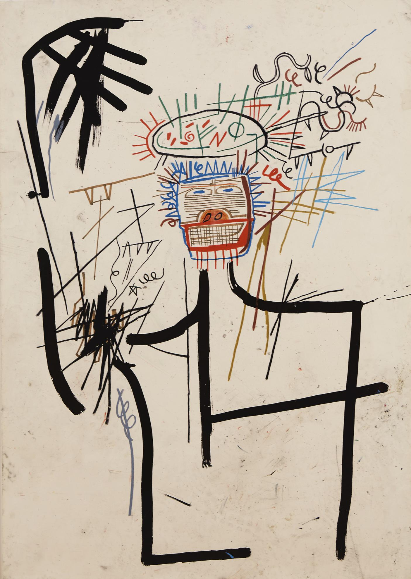 Jean-Michel Basquiat-Untitled (Figure Jmb #1)-1982