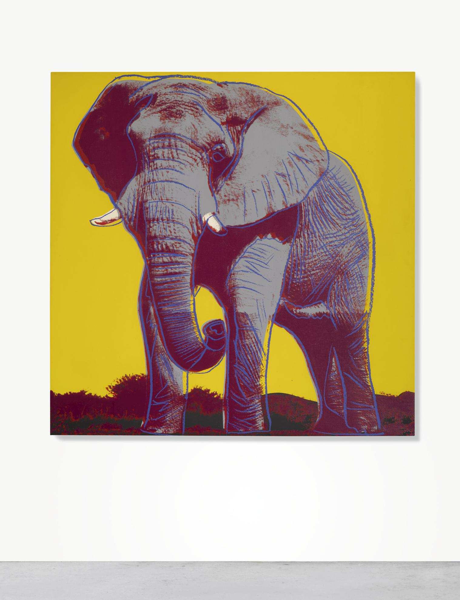 Andy Warhol-African Elephant-1983