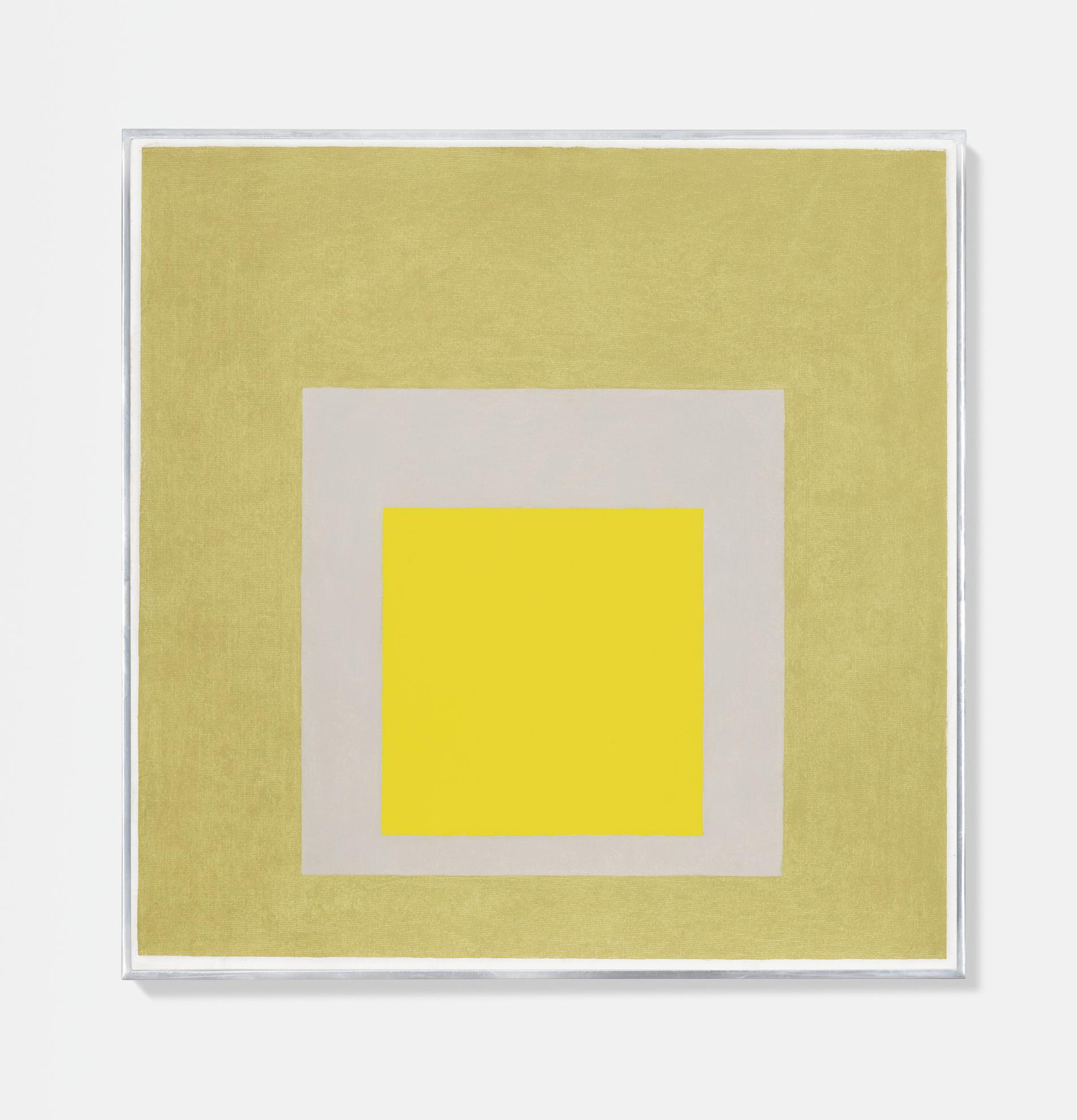 Josef Albers-Study To Homage To The Square: Evident-1960