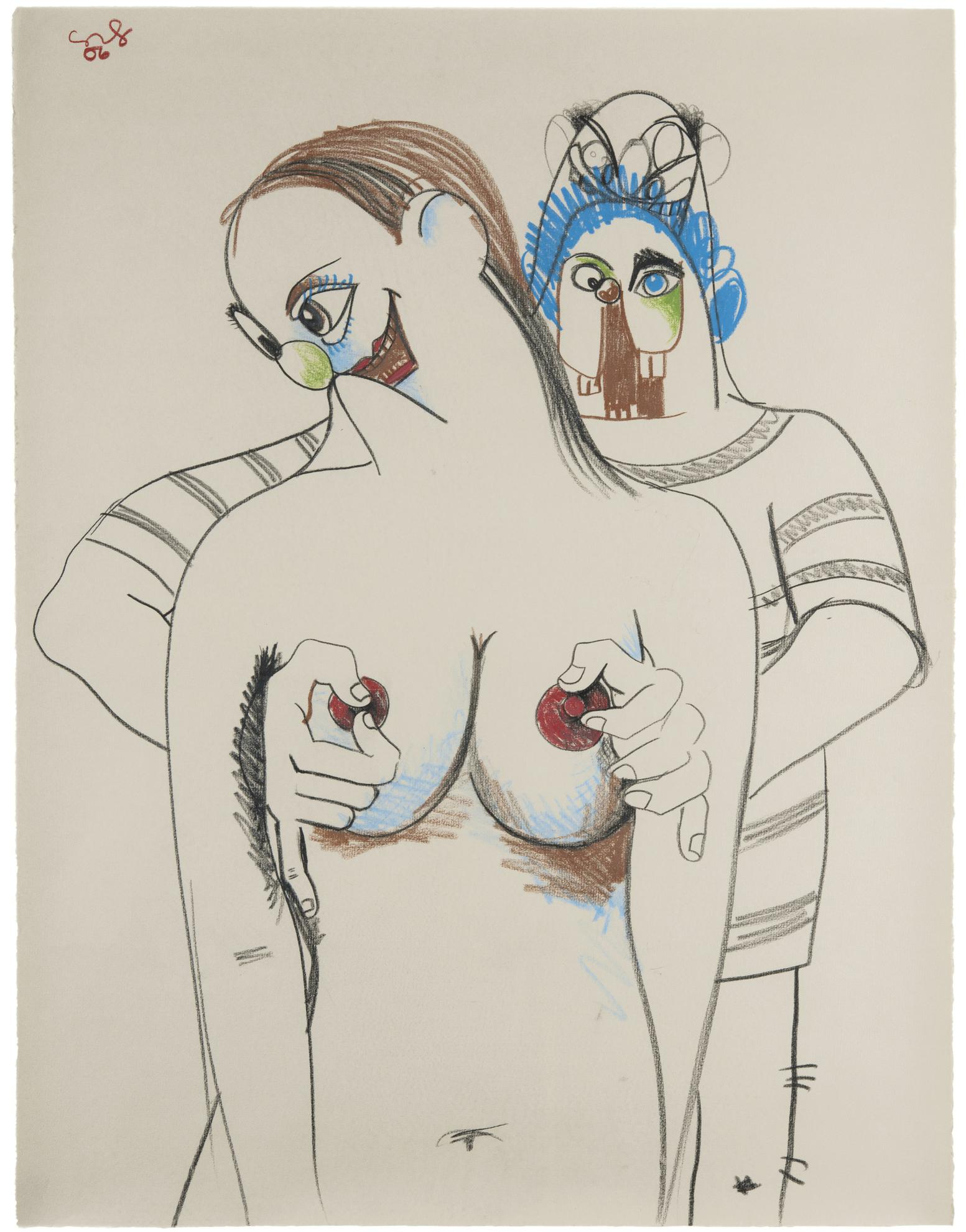 George Condo-Double Figure Composition-2006