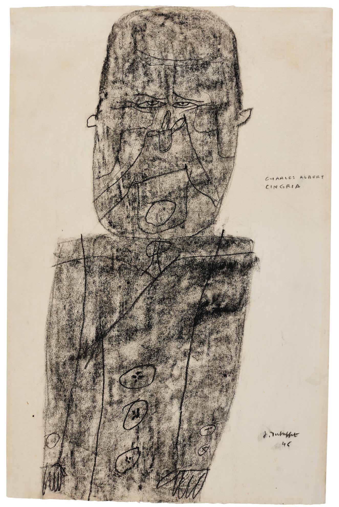 Jean Dubuffet-Charles-Albert Cingria-1946