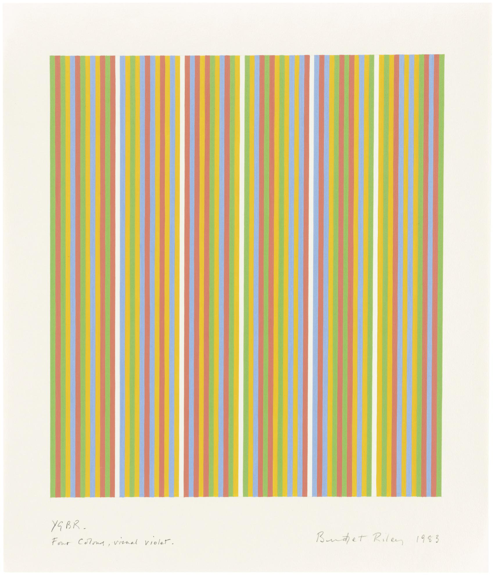 Bridget Riley-Ygbr. Four Colours, Visual Violet-1983