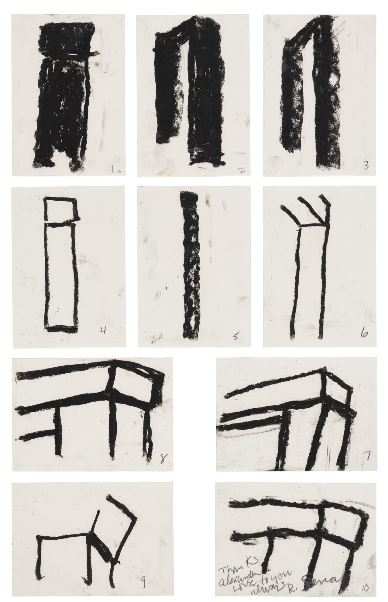 Richard Serra-Study For Span For Alexander And Gilbert-1977