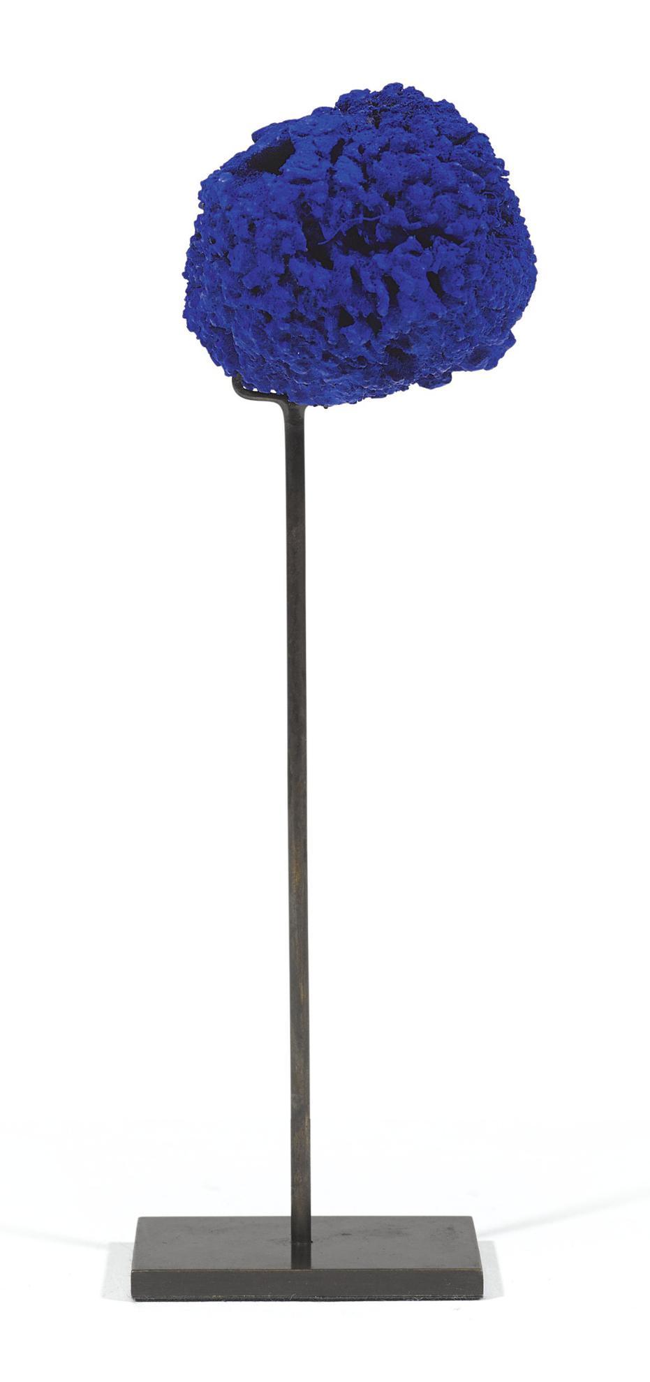Yves Klein-Untitled Blue Sponge Sculpture (Se 303)-1961