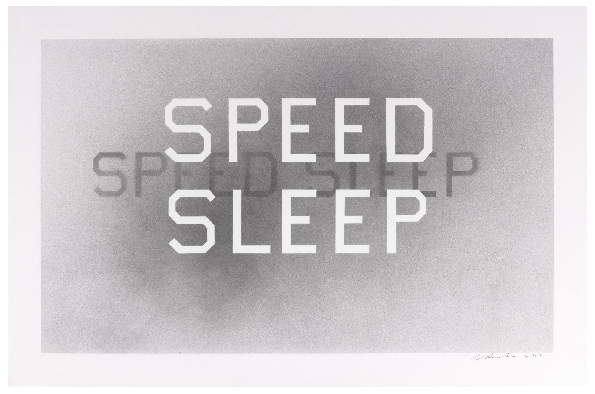 Ed Ruscha-Speed Sleep #2-2005