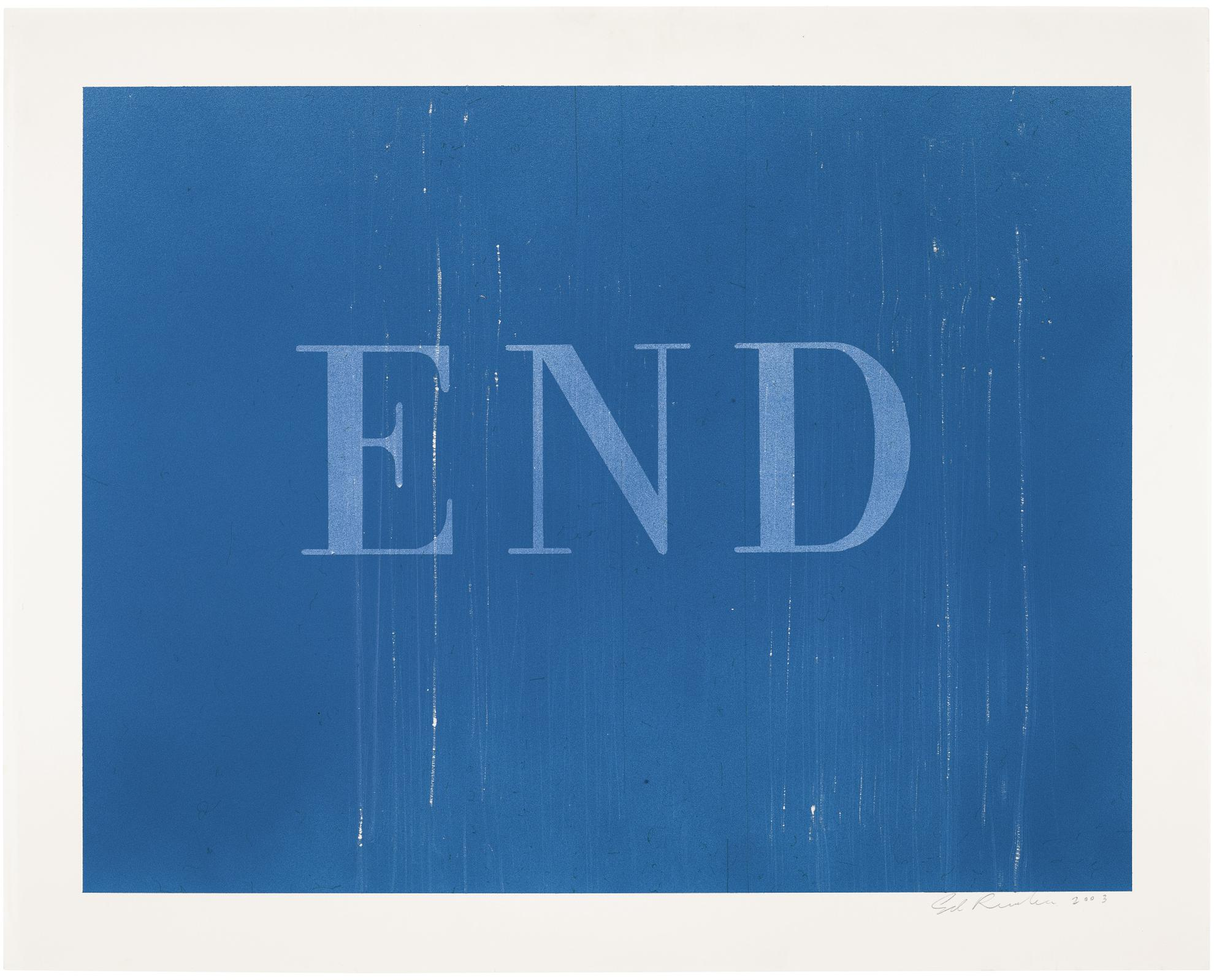 Ed Ruscha-The End #37-2003