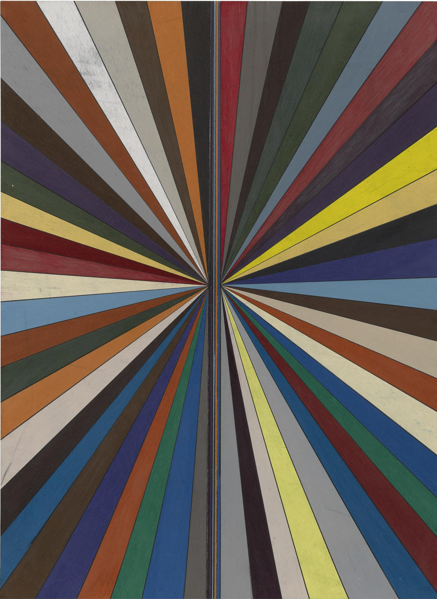 Mark Grotjahn-Untitled (Full Color Butterfly 866)-2010