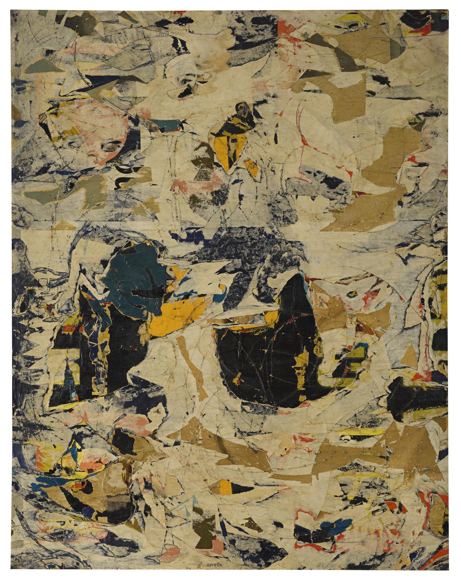 Mimmo Rotella-Decollage-1958