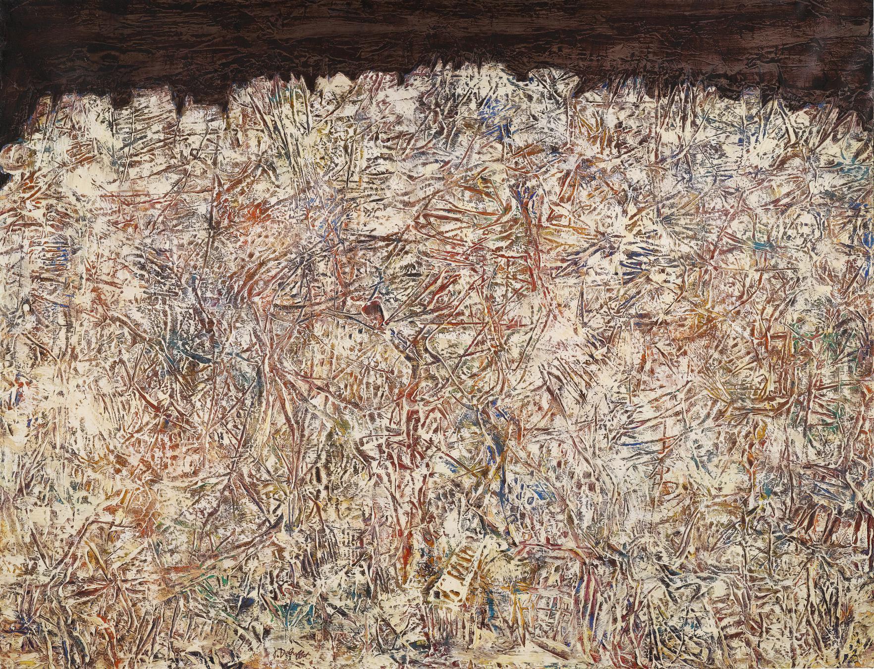 Jean Dubuffet-Paysage Aux Griffures-1953