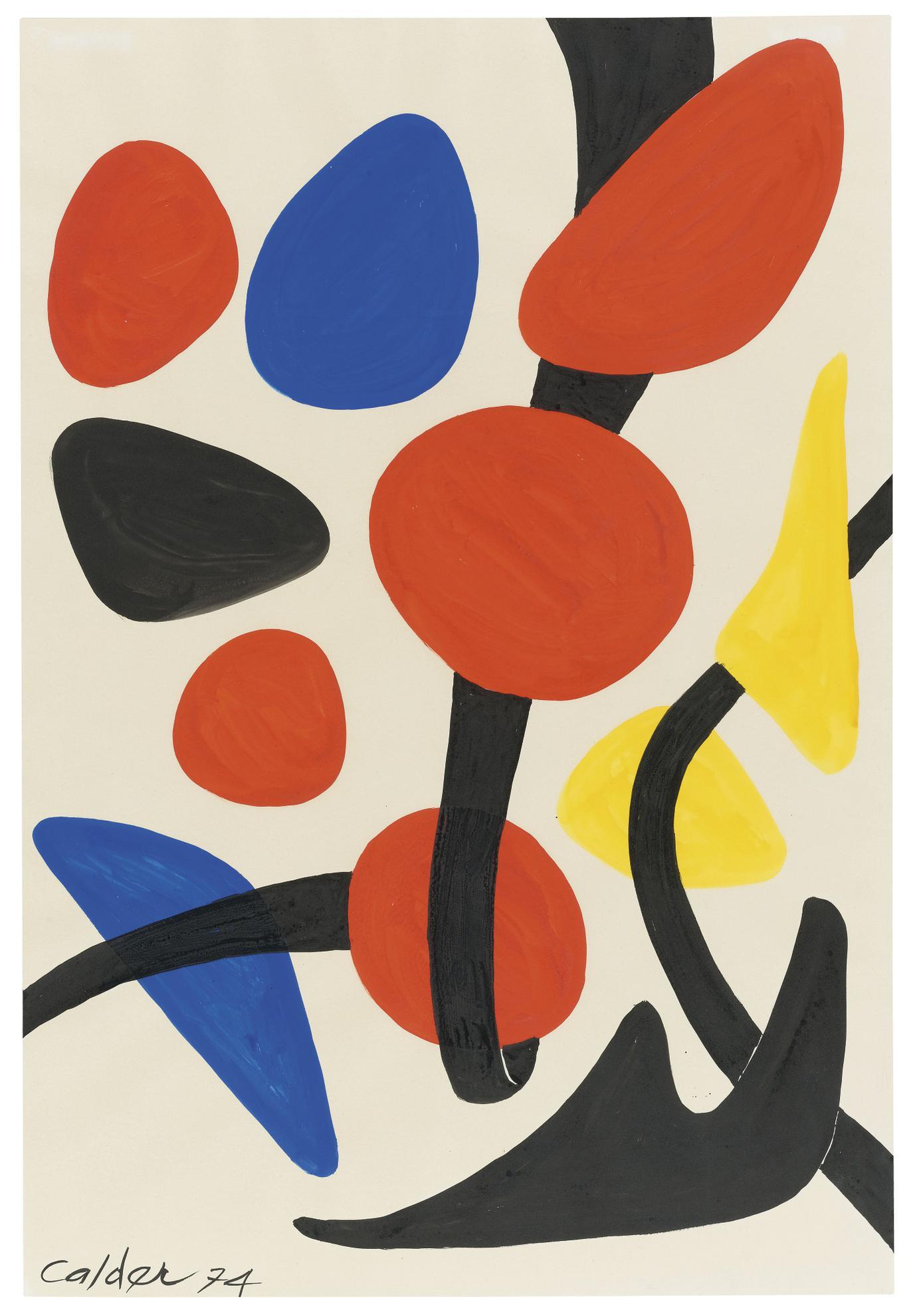 Alexander Calder-Looped Red-1974