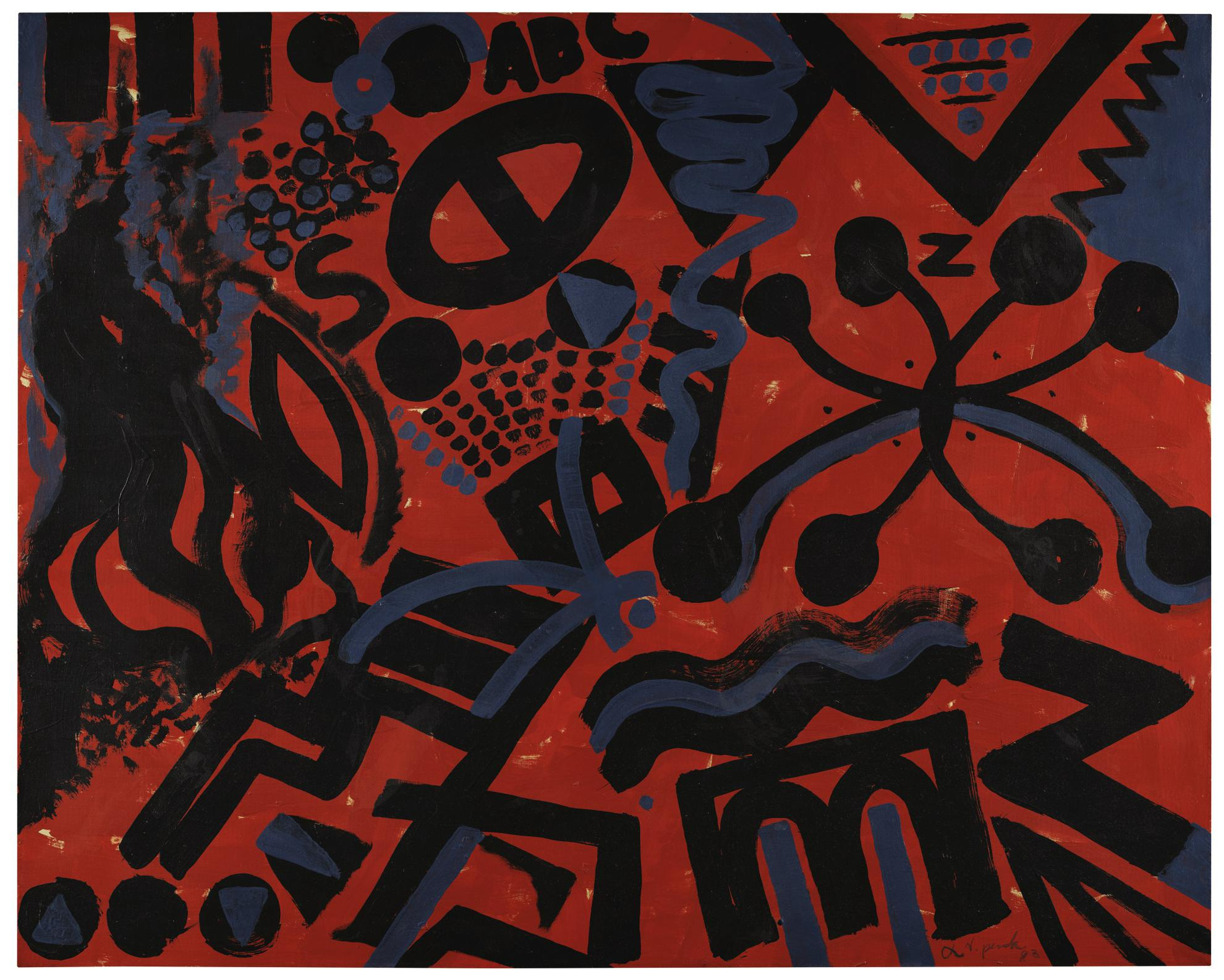 A.R. Penck-Untitled-1983
