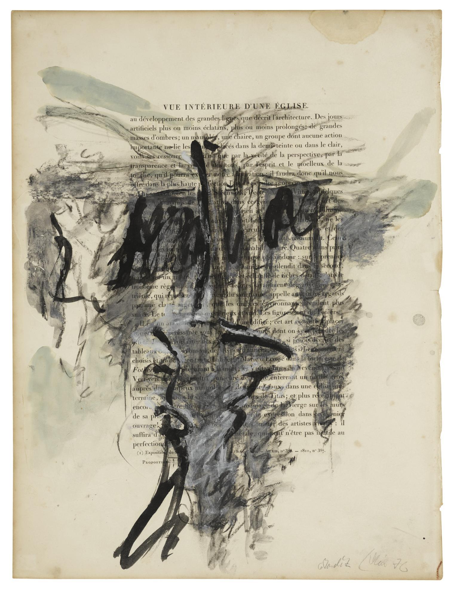 Georg Baselitz-Vue Interieure Dune Eglise-1976