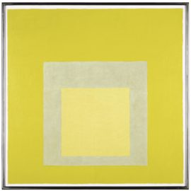 Josef Albers-Study For Homage To The Square: Yellow Climate-1961