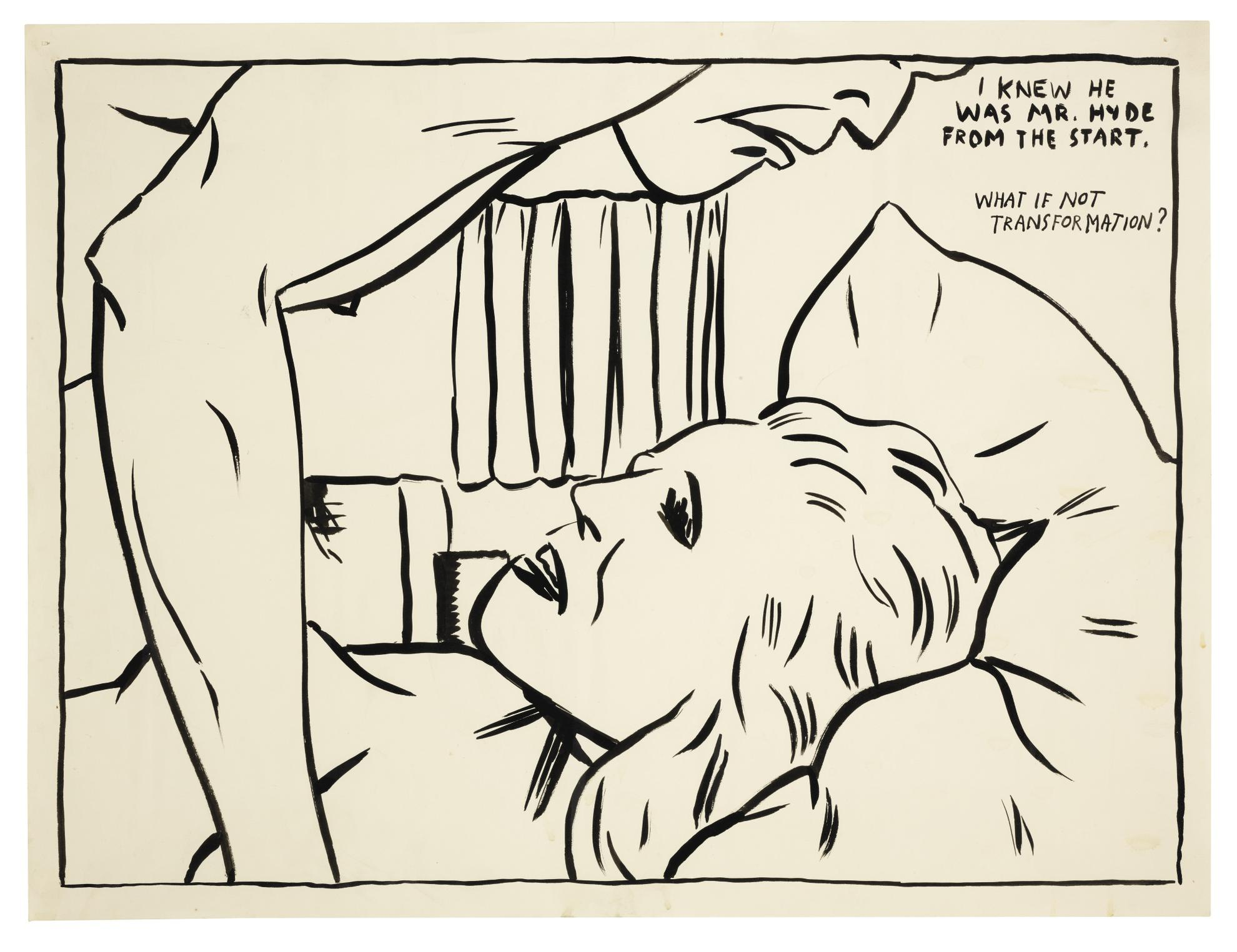 Raymond Pettibon-Untitled (I Knew He Was Mr Hyde...)-1987