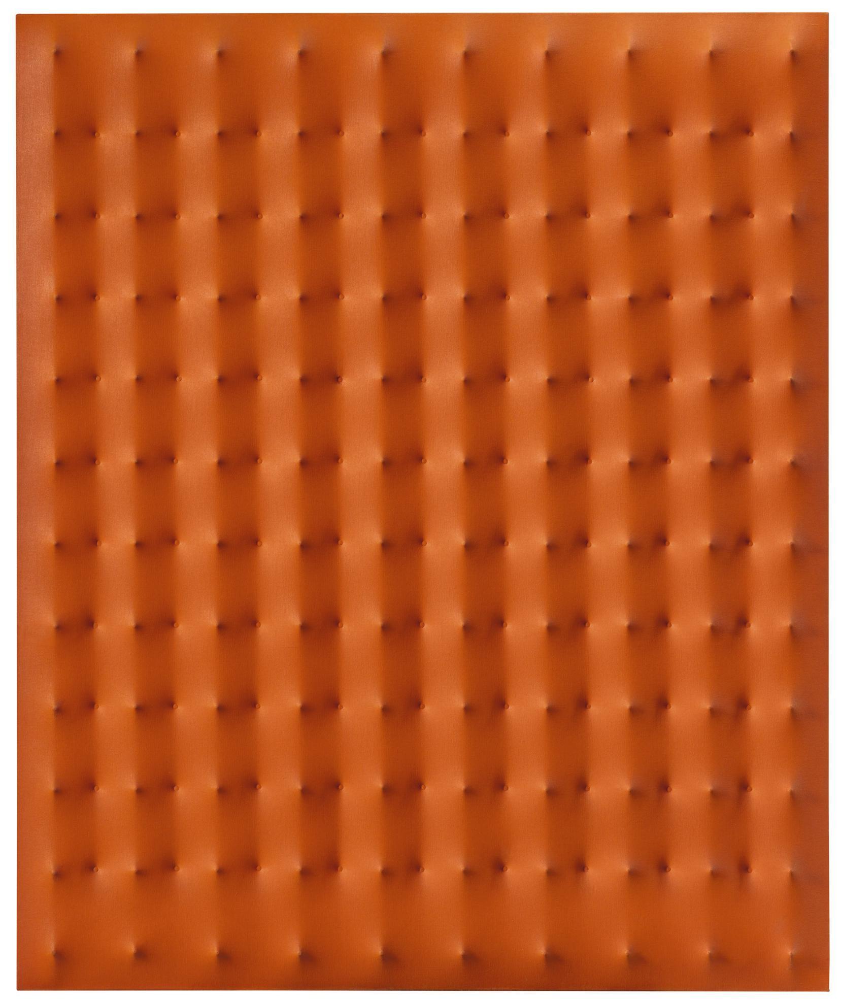 Enrico Castellani-Superficie Arancione-1973