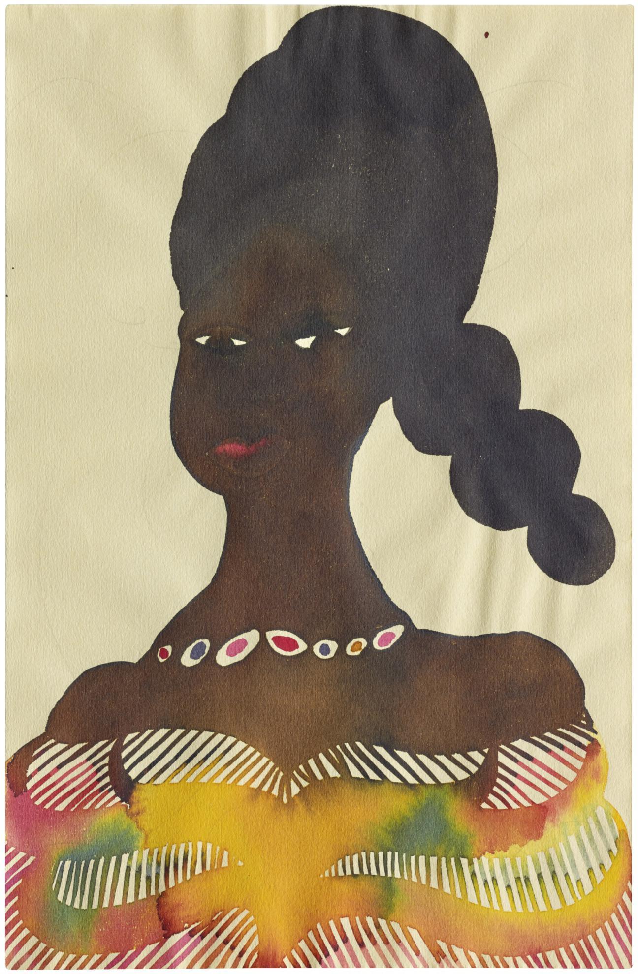 Chris Ofili-Untitled (Portrait)-1999