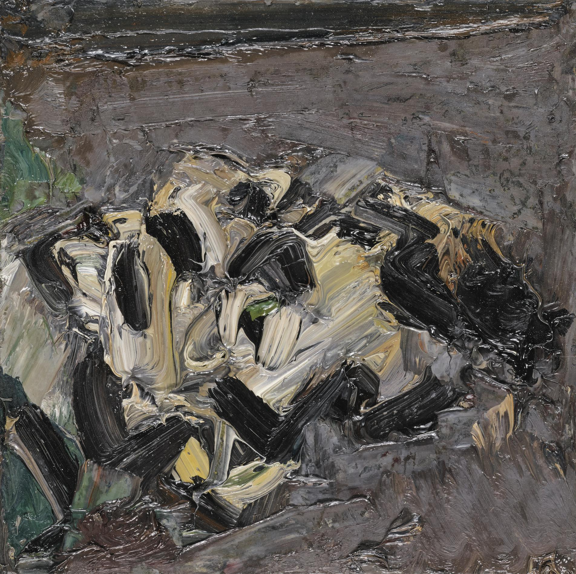 Frank Auerbach-Reclining Head Of Gerda Boehm-1981