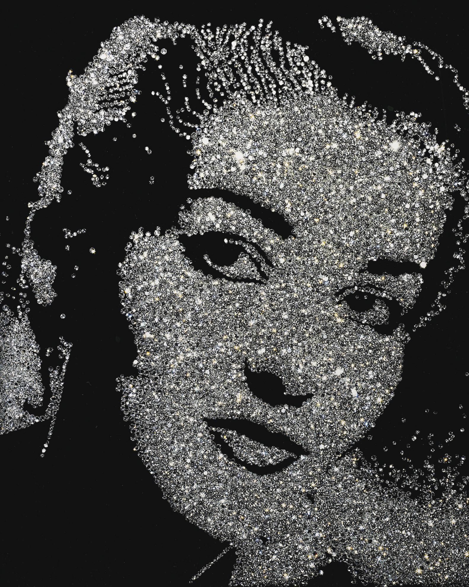 Vik Muniz-Maria Callas (Diamond Divas)-2004
